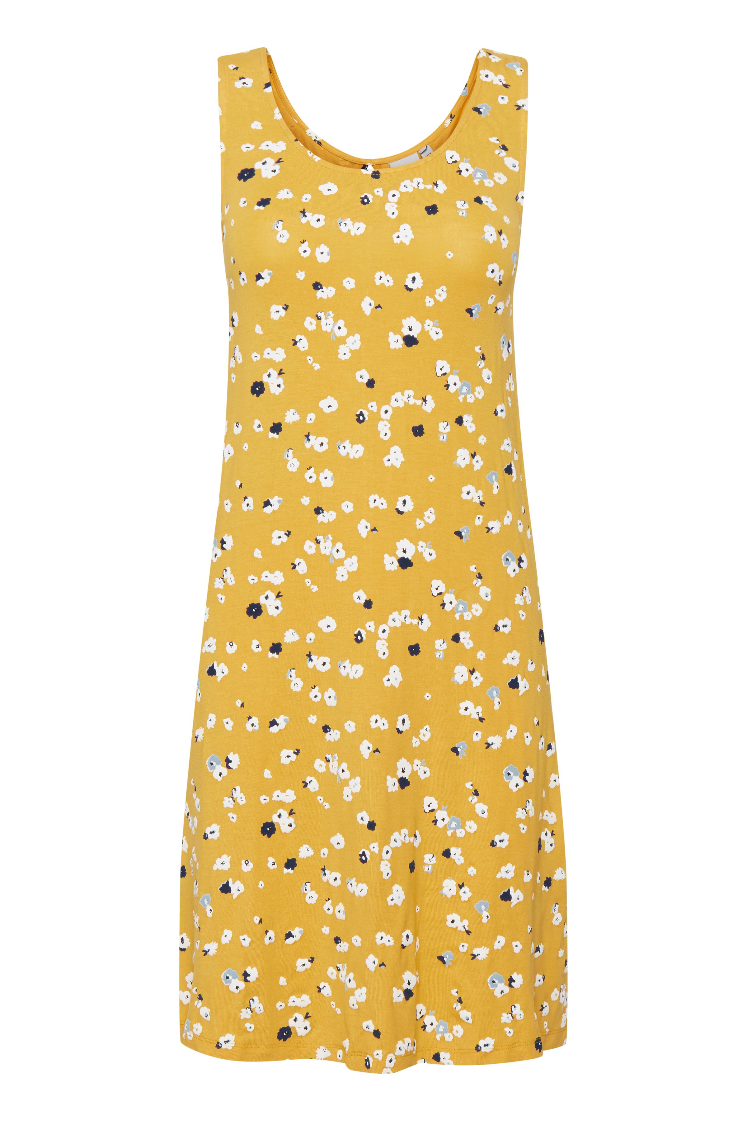 Ichi Dame Jersey jurk - Buff Yellow