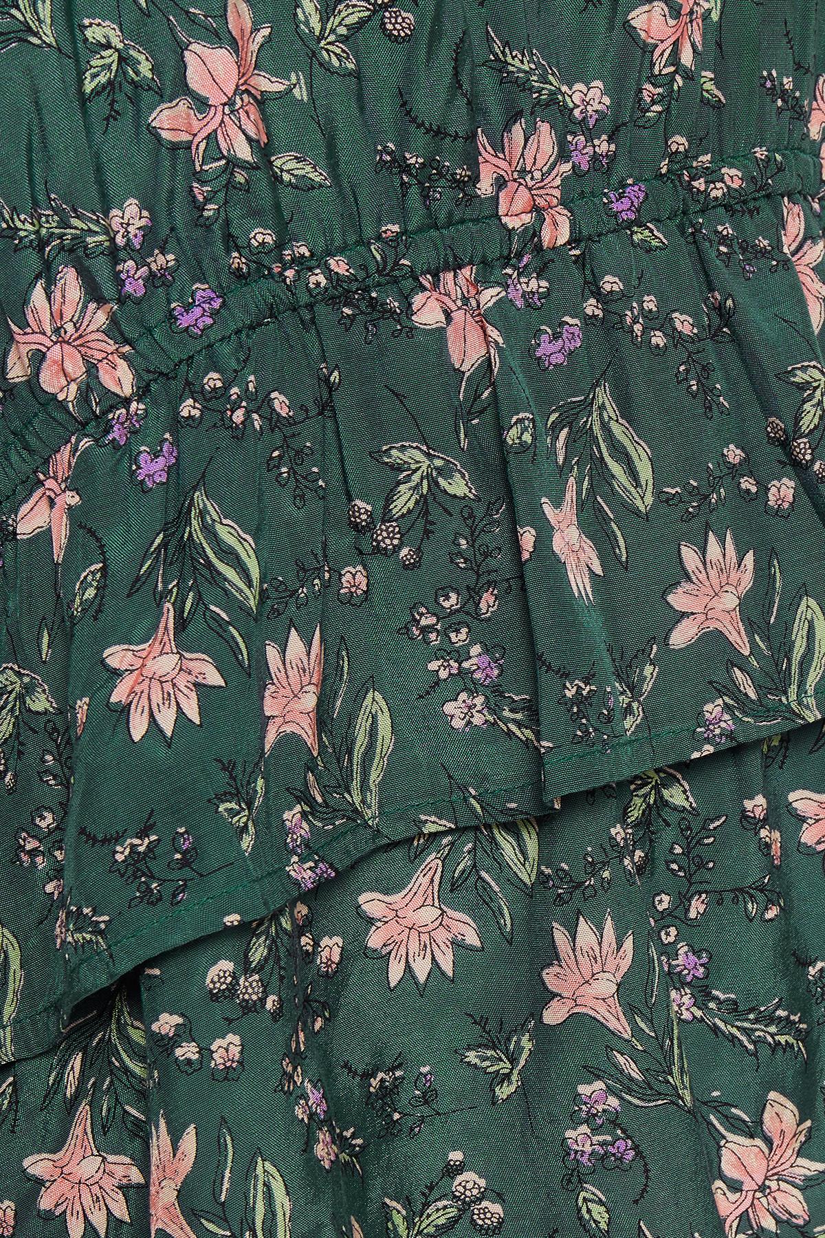 Buteljgrön Kortärmad blus från Kaffe – Köp Buteljgrön Kortärmad blus från stl. 34-46 här