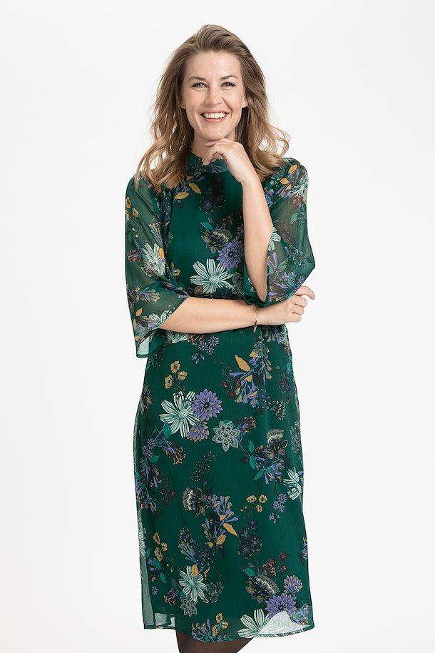 73a78d3d2450 Buteljgrön/lila Klänning från Pulz Jeans – Köp Buteljgrön/lila Klänning  från stl. XS-XXL här