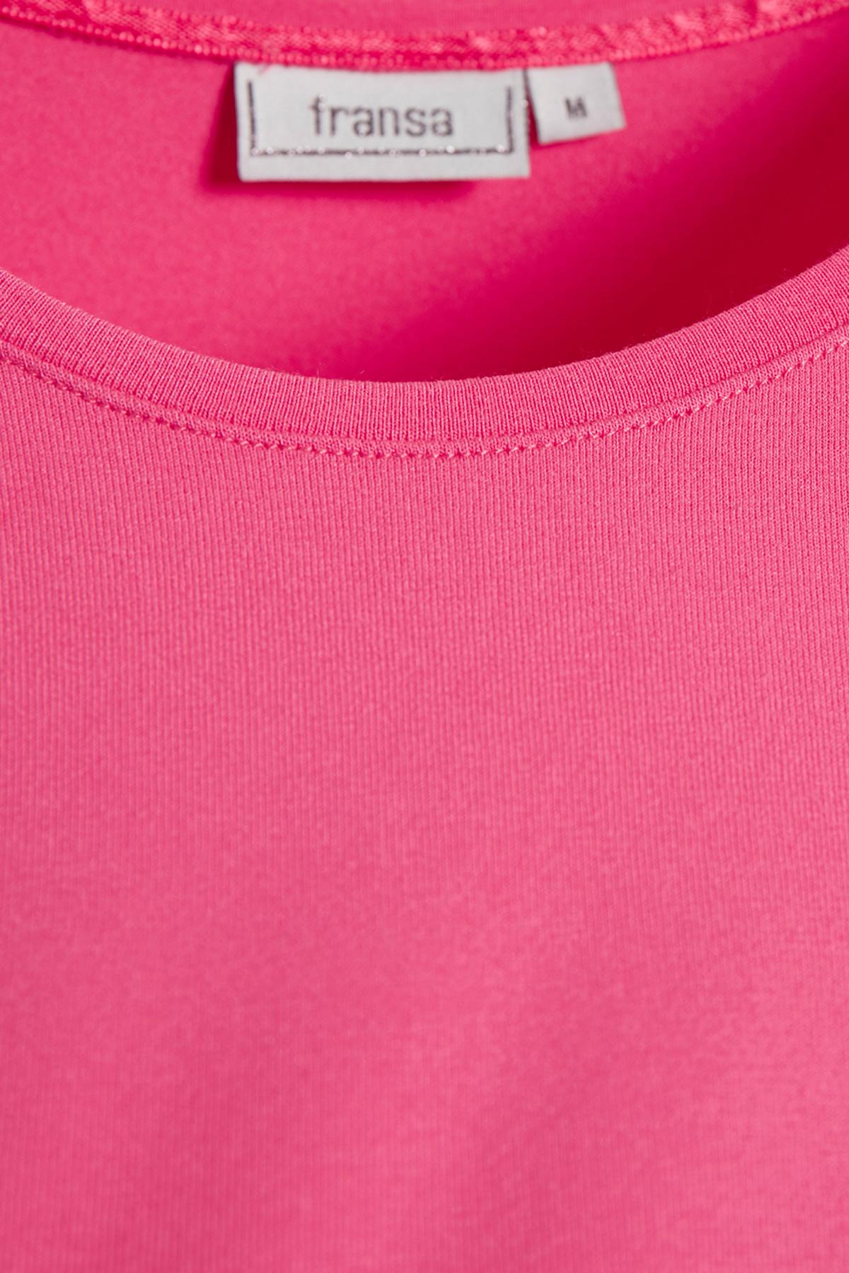 Cerise T-shirt van Fransa – Door Cerise T-shirt van maat. XS-XXL hier