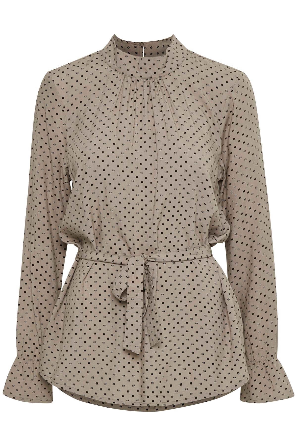 Champagne/sort Langærmet bluse fra Bon'A Parte – Køb Champagne/sort Langærmet bluse fra str. S-2XL her