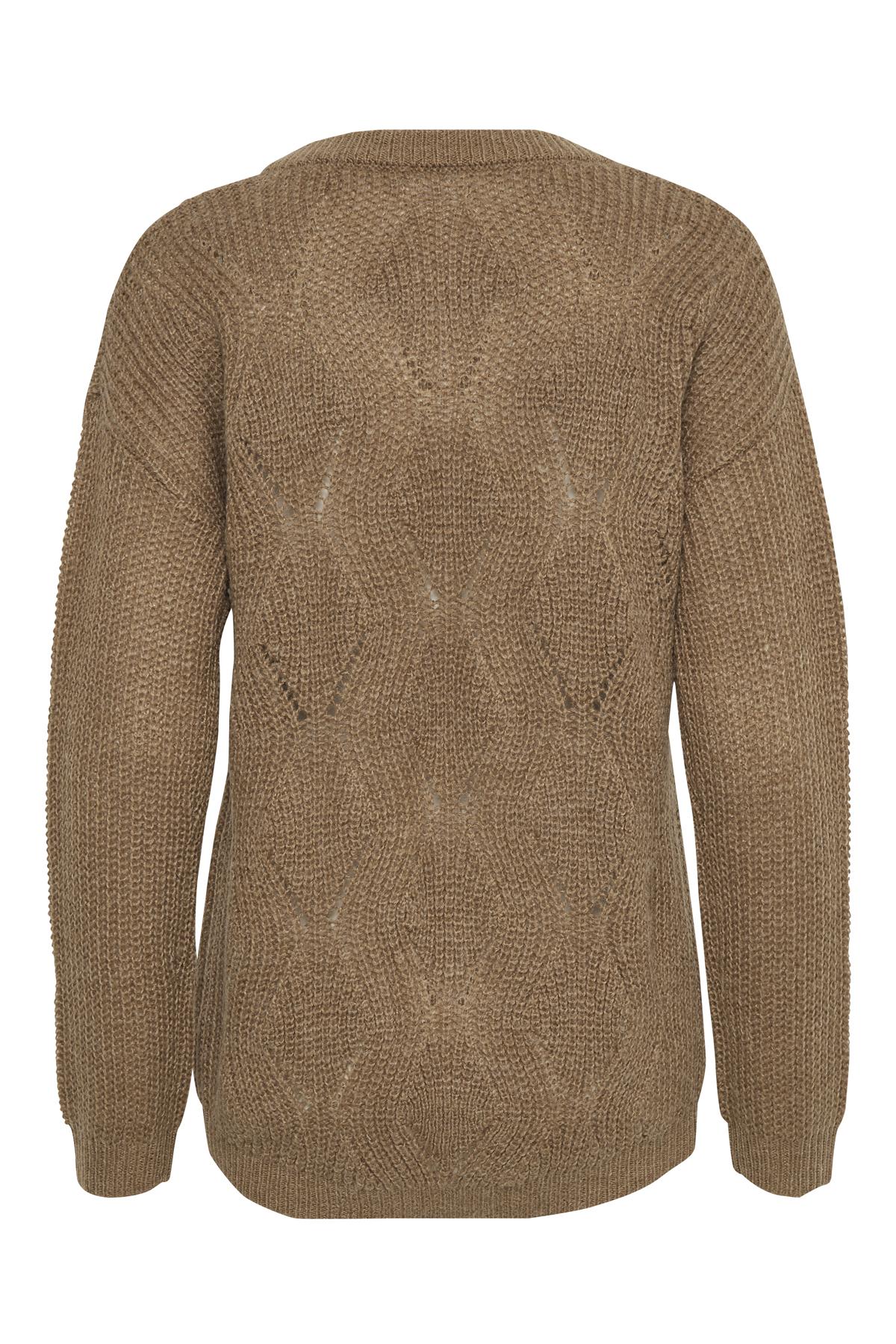 Cognac Stickad pullover från Bon'A Parte – Köp Cognac Stickad pullover från stl. S-2XL här