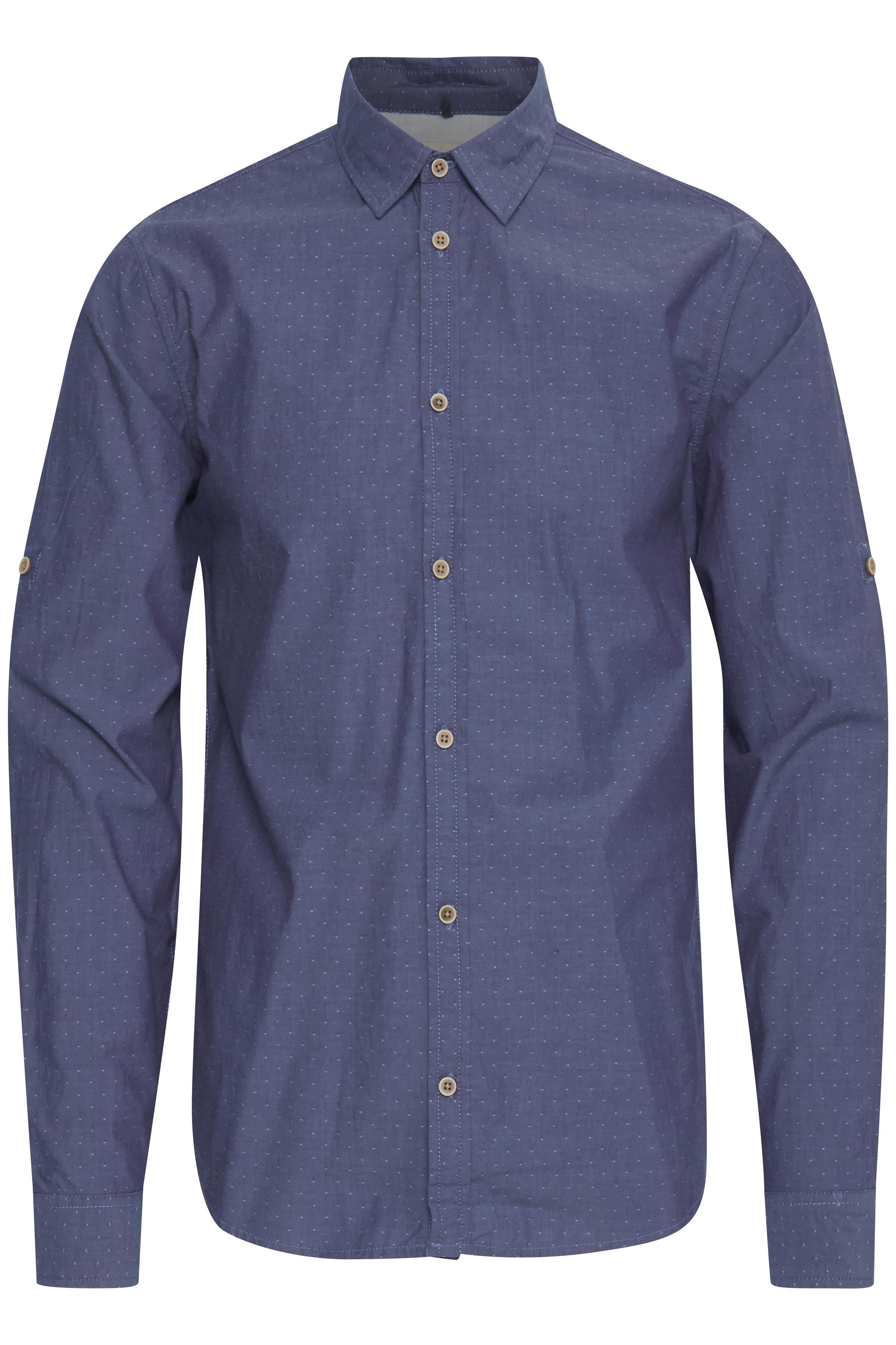 Billede af Blend He Herre Langærmet skjorte - Coronet Blue