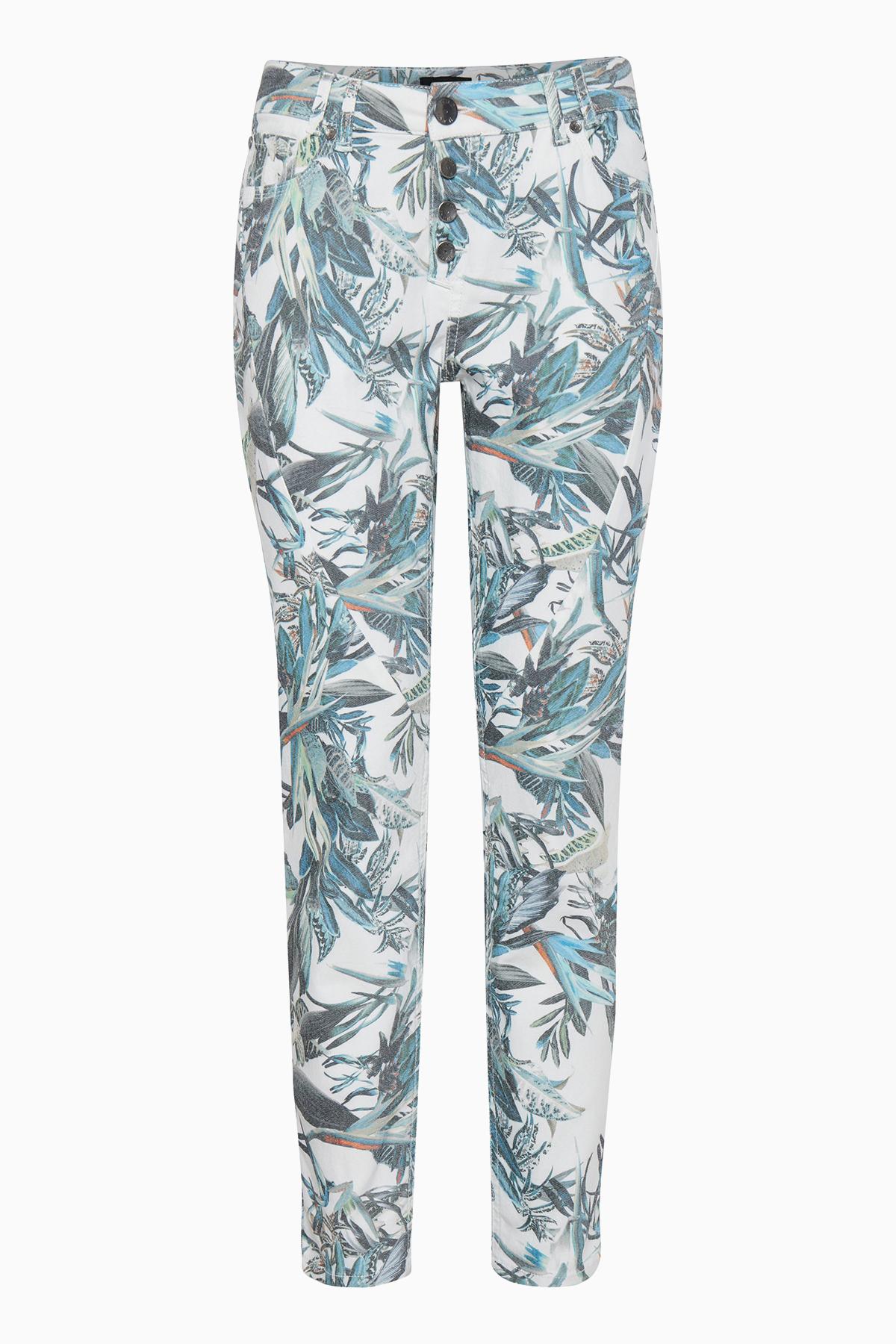 Image of Pulz Jeans Dame Et par dekorative 5-lommet Rosita bukser - Creme