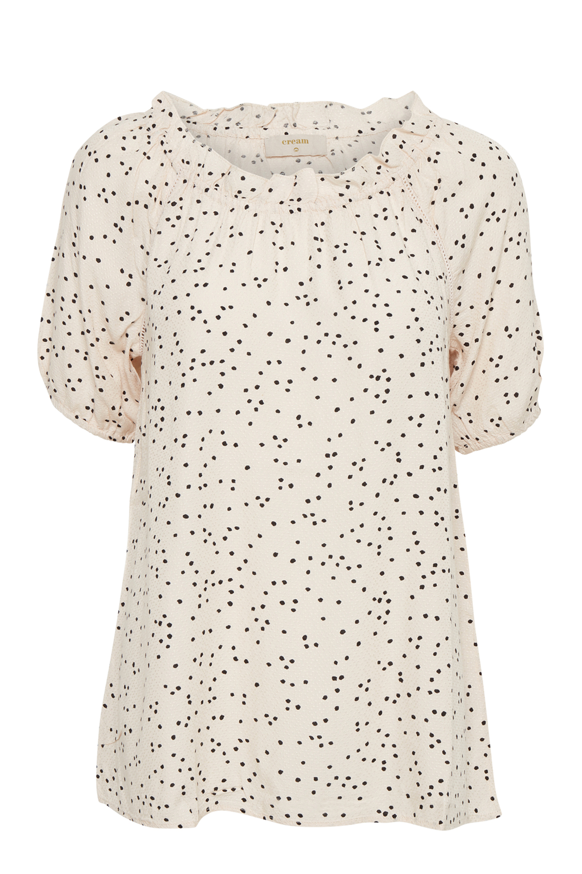 Image of Cream Dame Kortærmet bluse - Creme