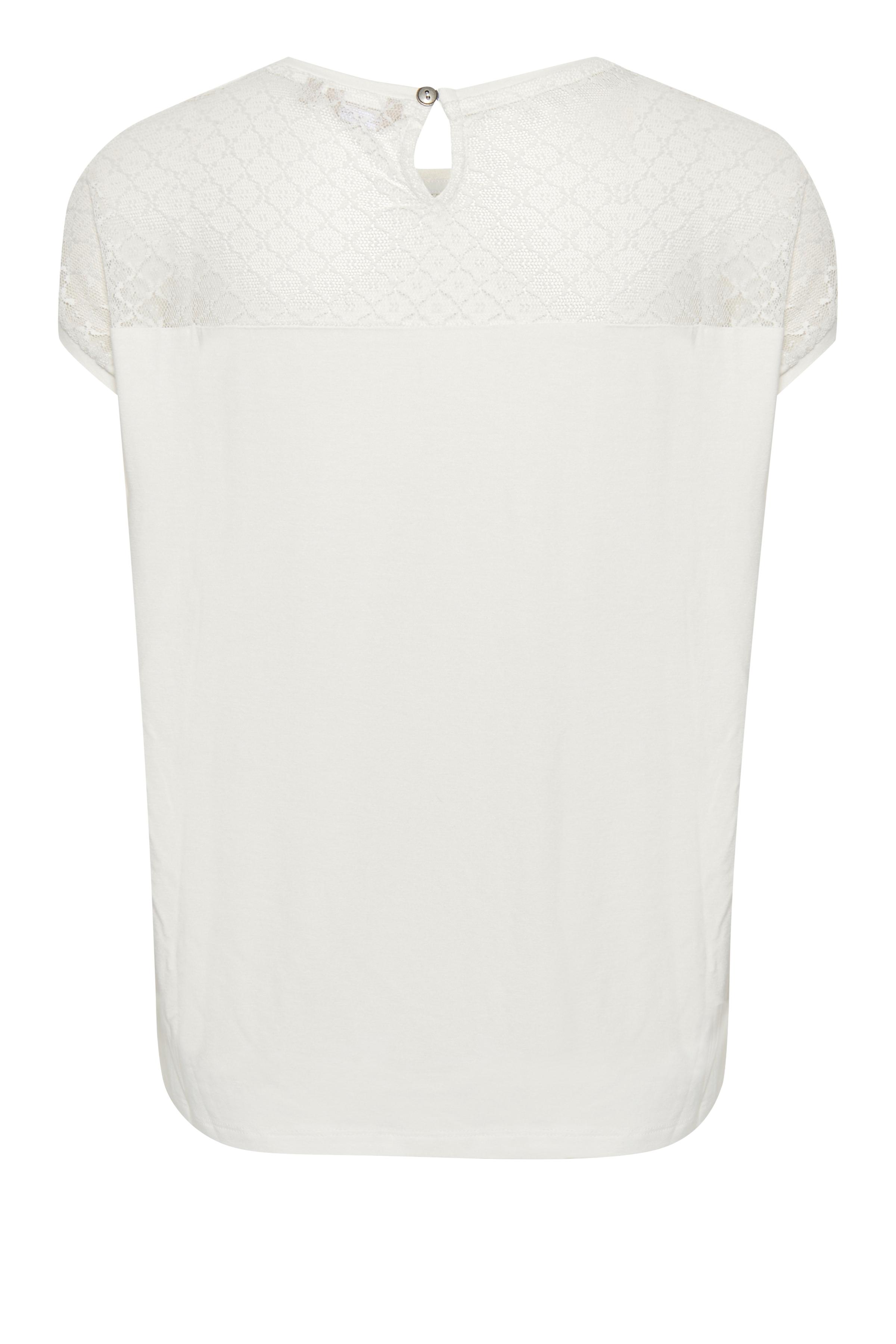 Crème Kortärmad blus   från Bon'A Parte – Köp Crème Kortärmad blus   från stl. S-2XL här