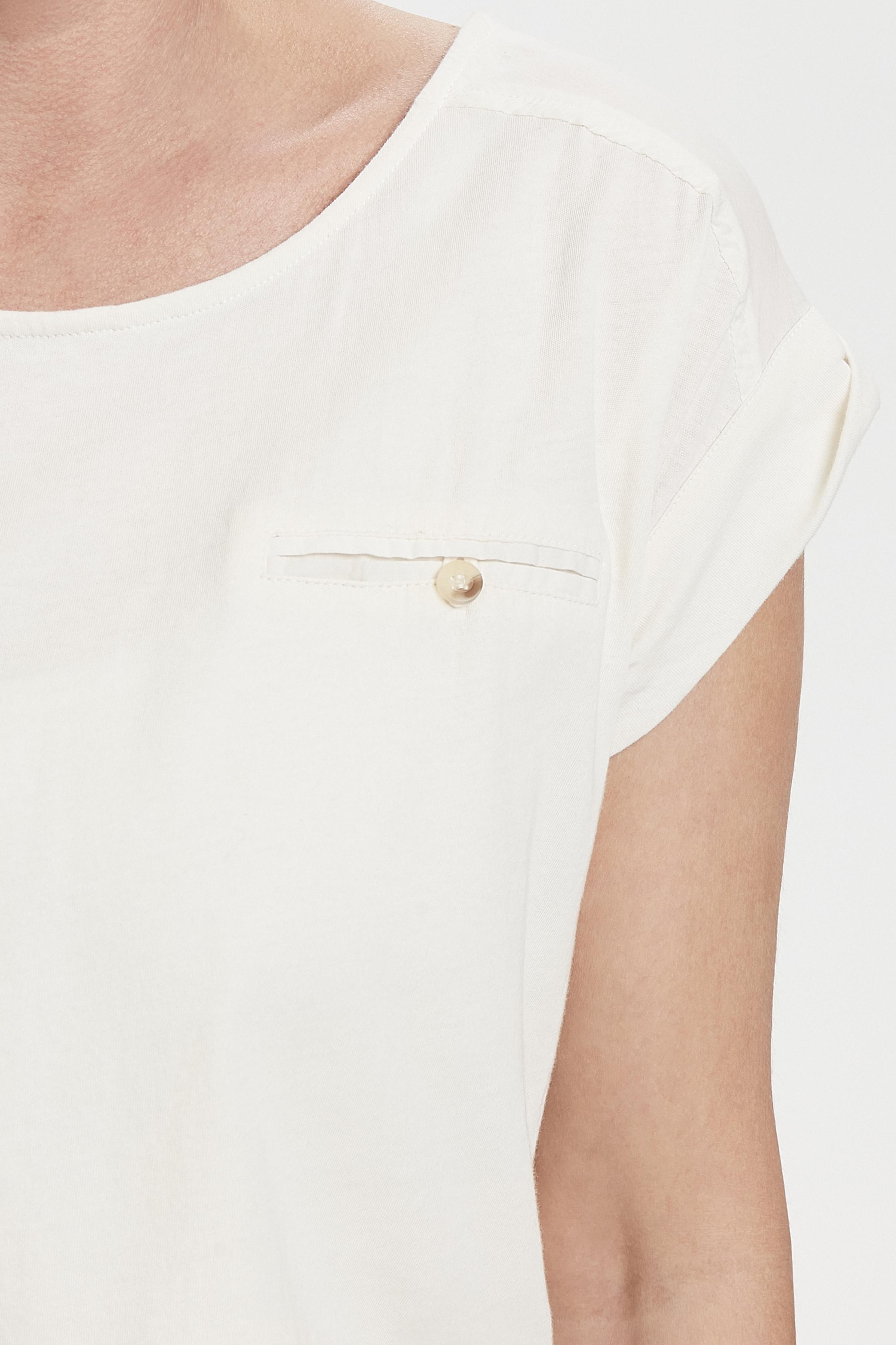 Crème Korte mouwen shirt  van Bon'A Parte – Door Crème Korte mouwen shirt  van maat. S-2XL hier