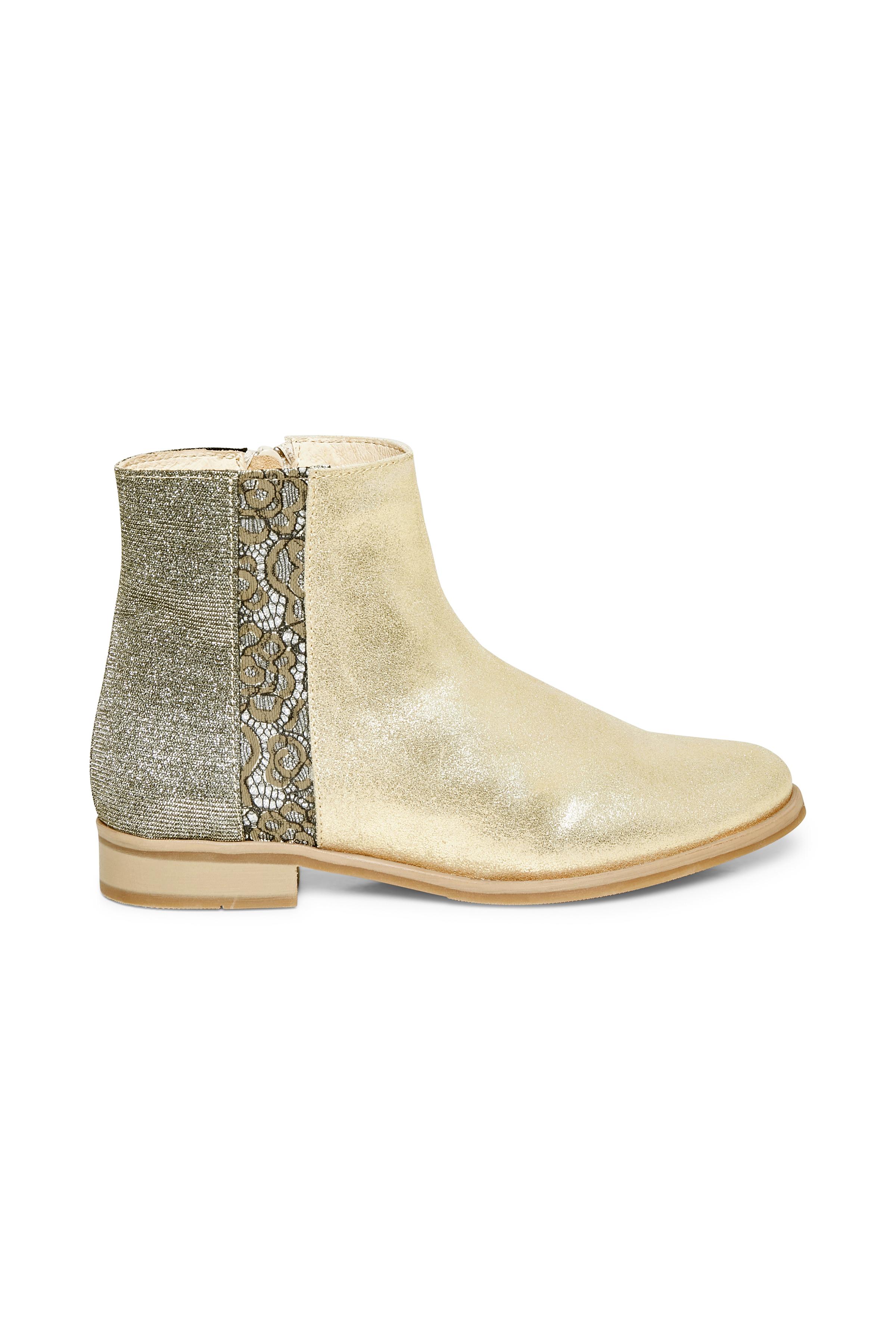 Creme/sølv Skindstøvle fra Cream Accessories – Køb Creme/sølv Skindstøvle fra str. 36-41 her