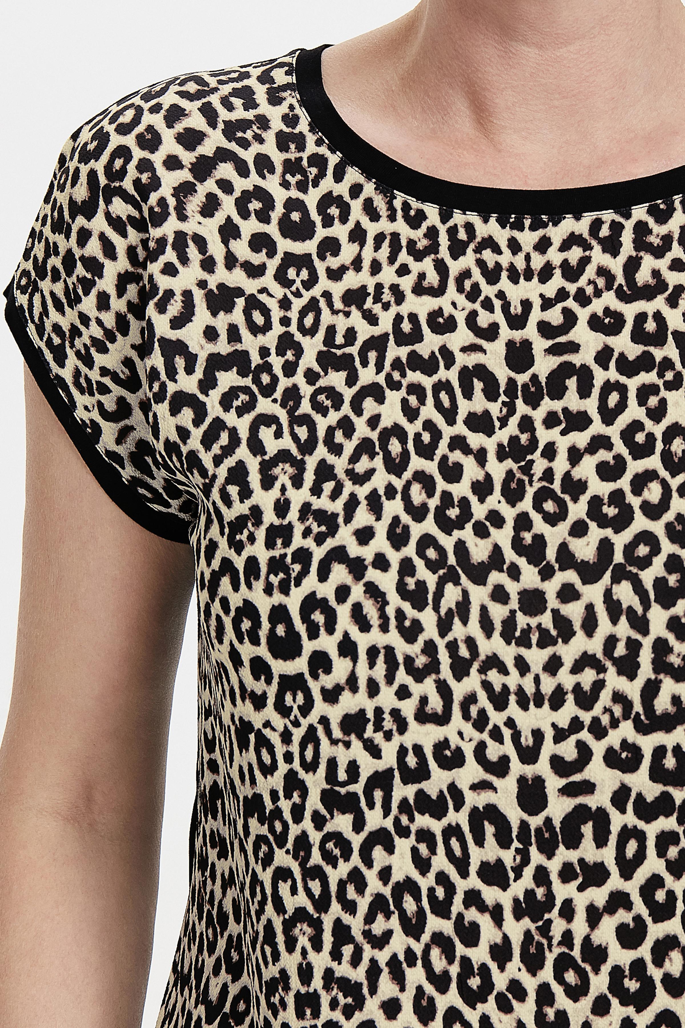 Creme/sort Kortærmet bluse fra Bon'A Parte – Køb Creme/sort Kortærmet bluse fra str. S-2XL her