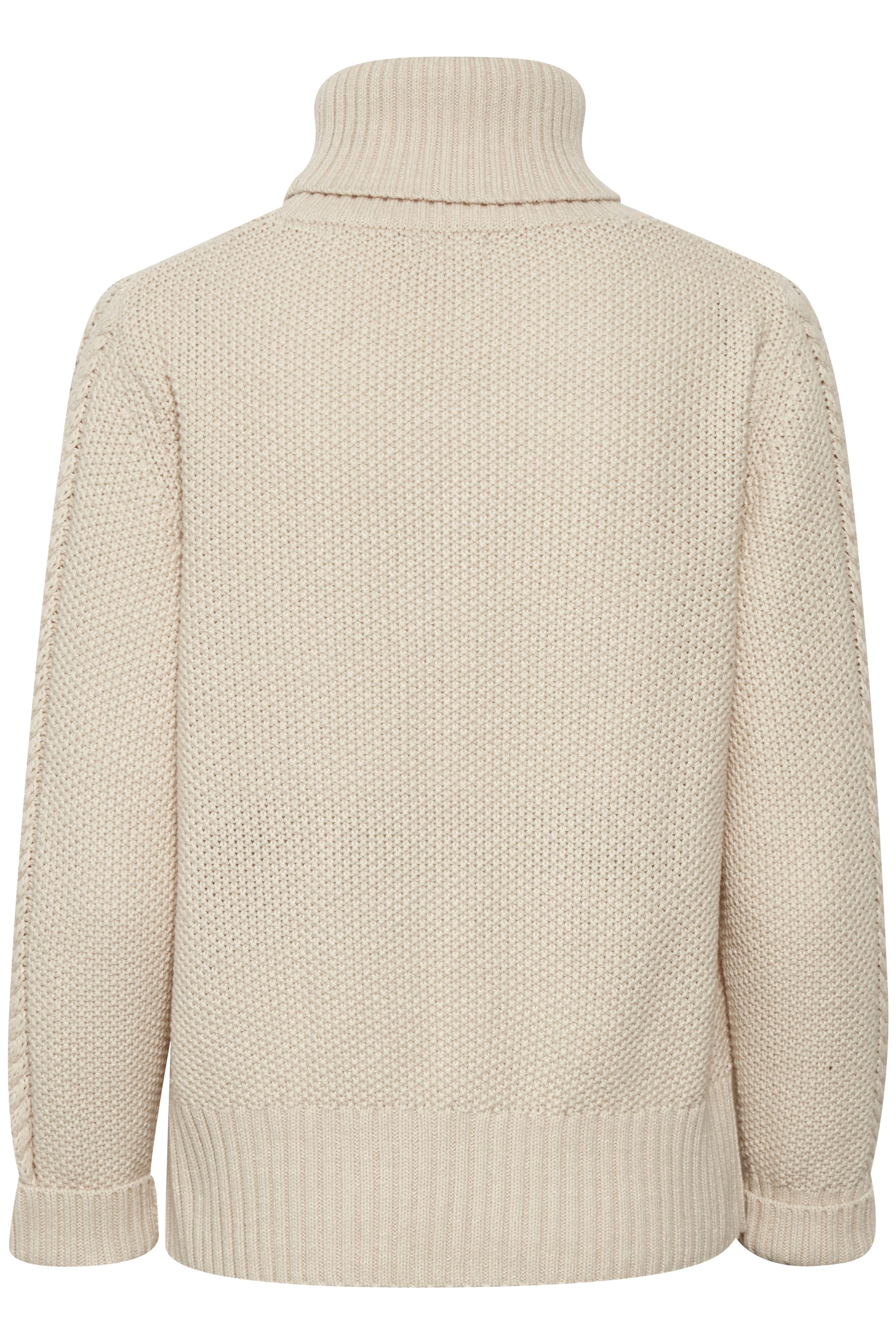 Crème Stickad pullover från Bon'A Parte – Köp Crème Stickad pullover från stl. S-2XL här