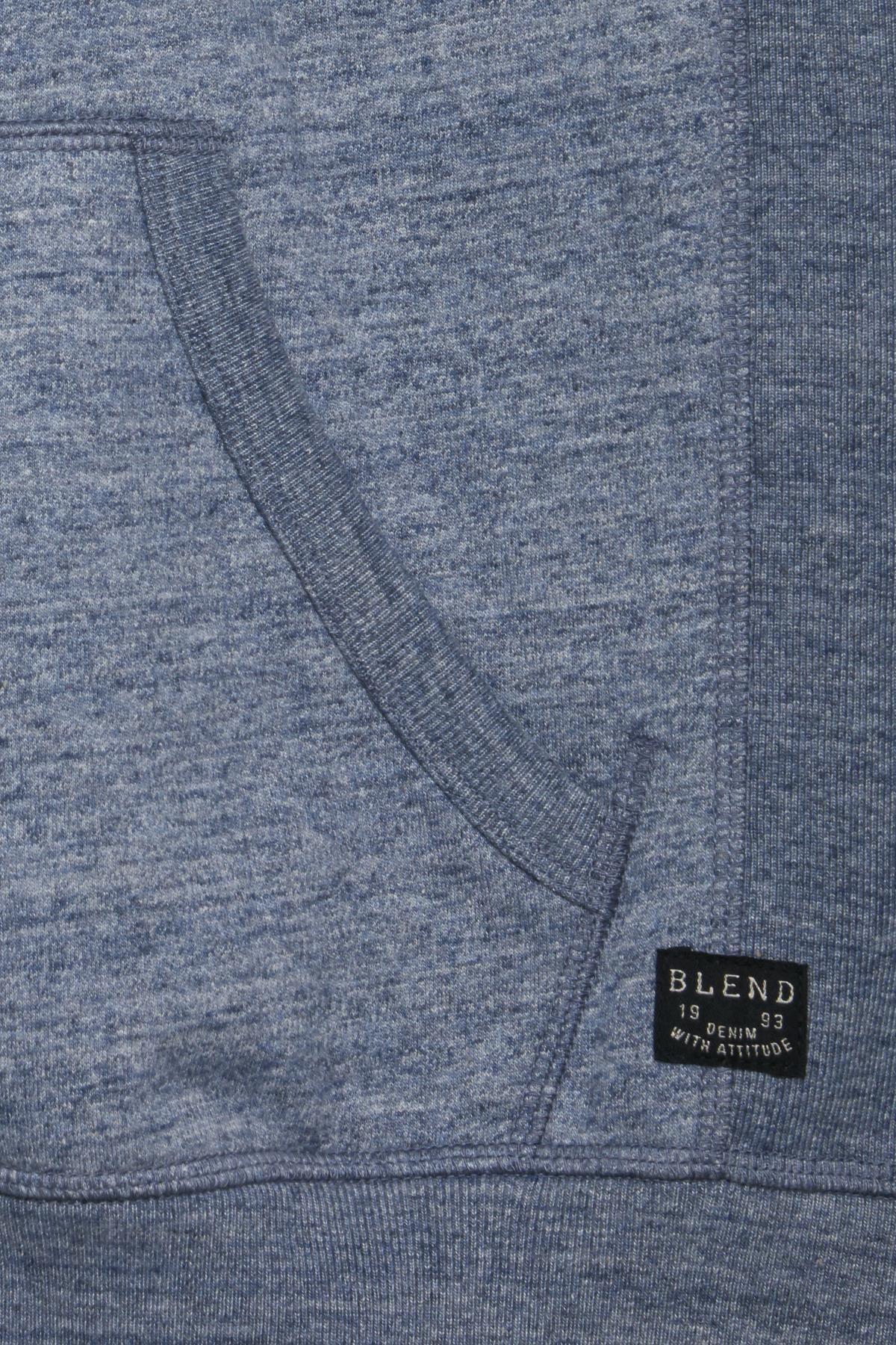 Dark Navy Blue Hættetrøje med lynlås fra Blend He – Køb Dark Navy Blue Hættetrøje med lynlås fra str. S-3XL her