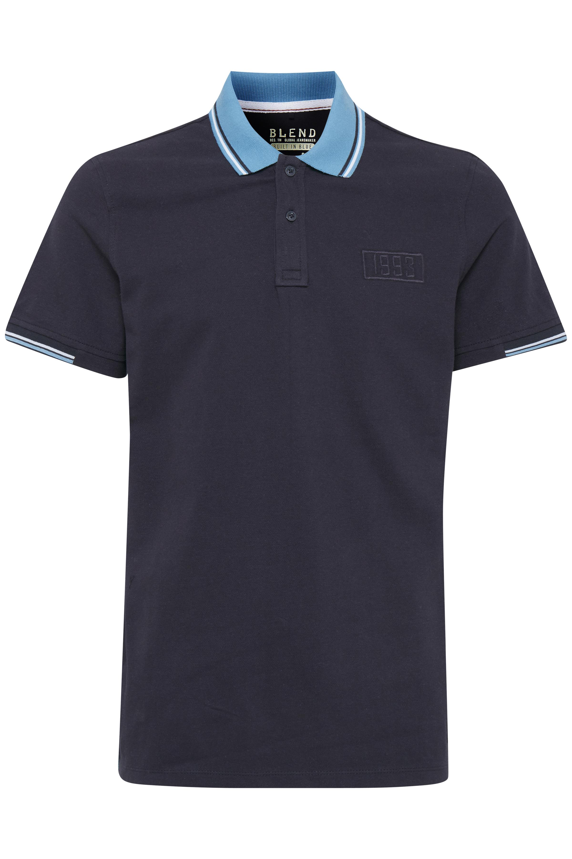Image of Blend He Herre Kortærmet T-shirt - Dark Navy Blue
