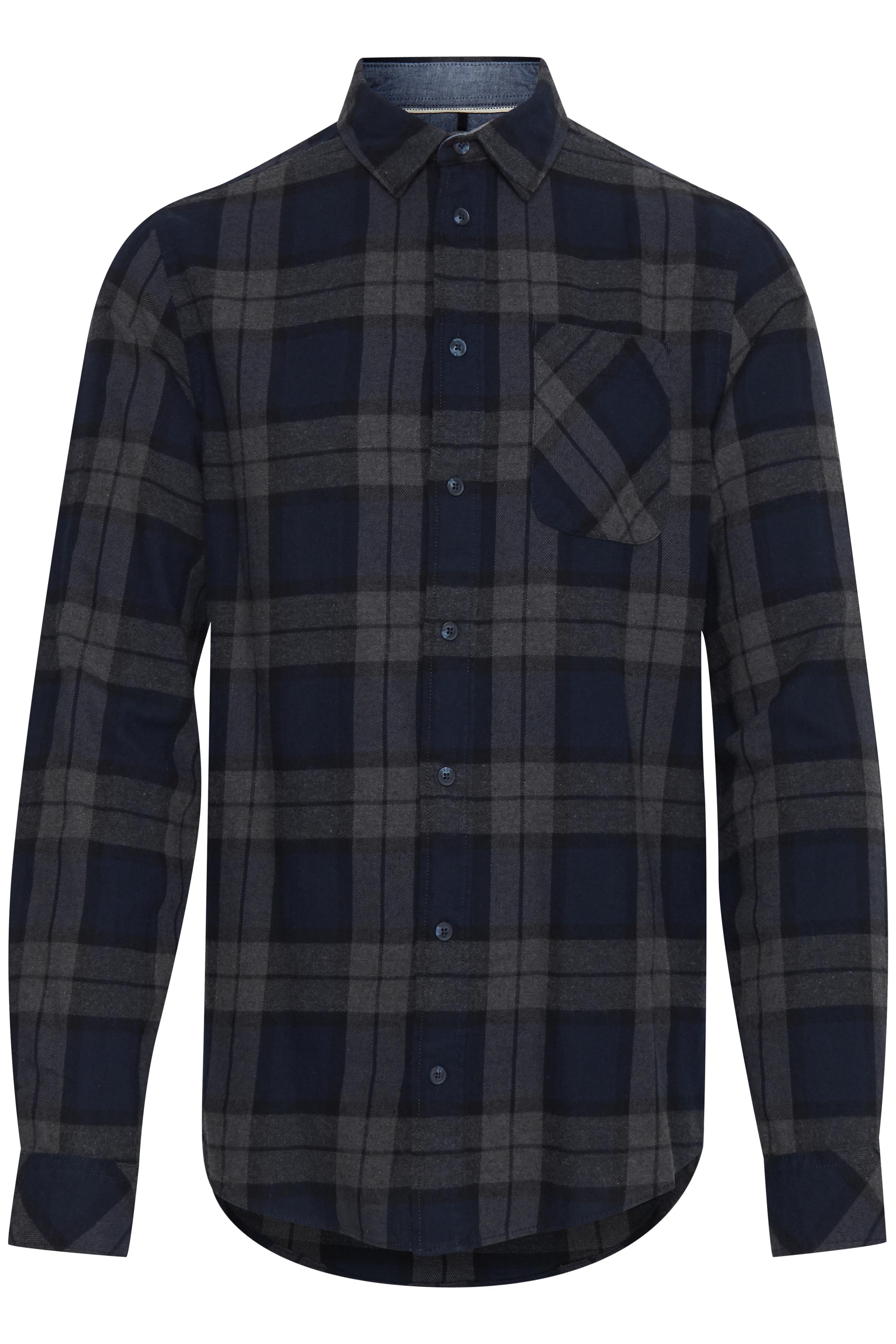 Image of Blend He Herre Langærmet skjorte - Dark Navy Blue