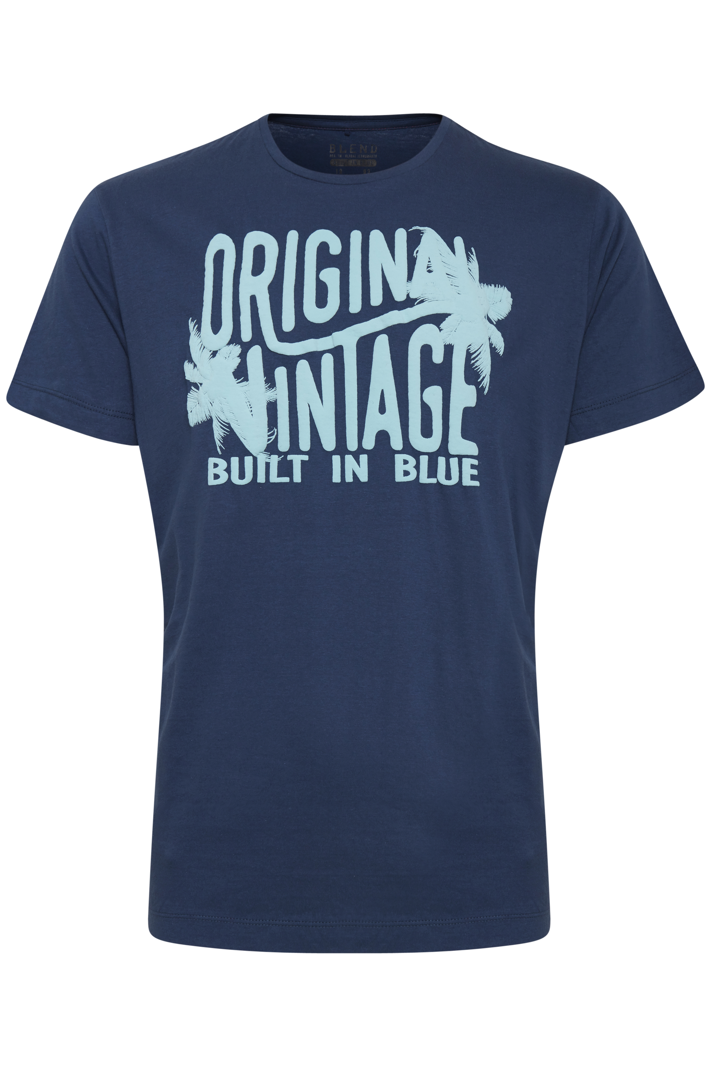 Blend He Herre Kortærmet T-shirt - Denim Blue