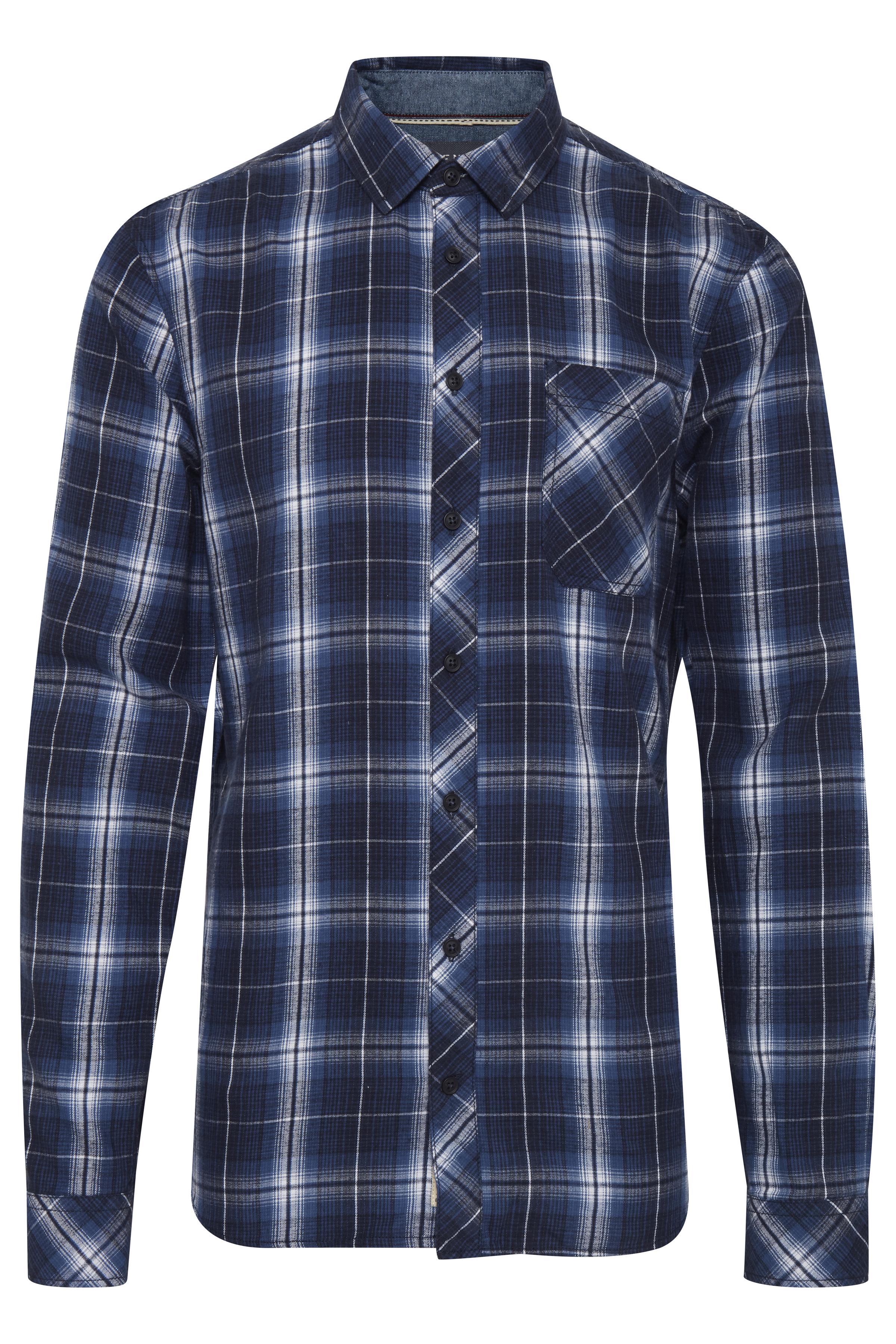 Image of Blend He Herre Langærmet skjorte - Denim Blue