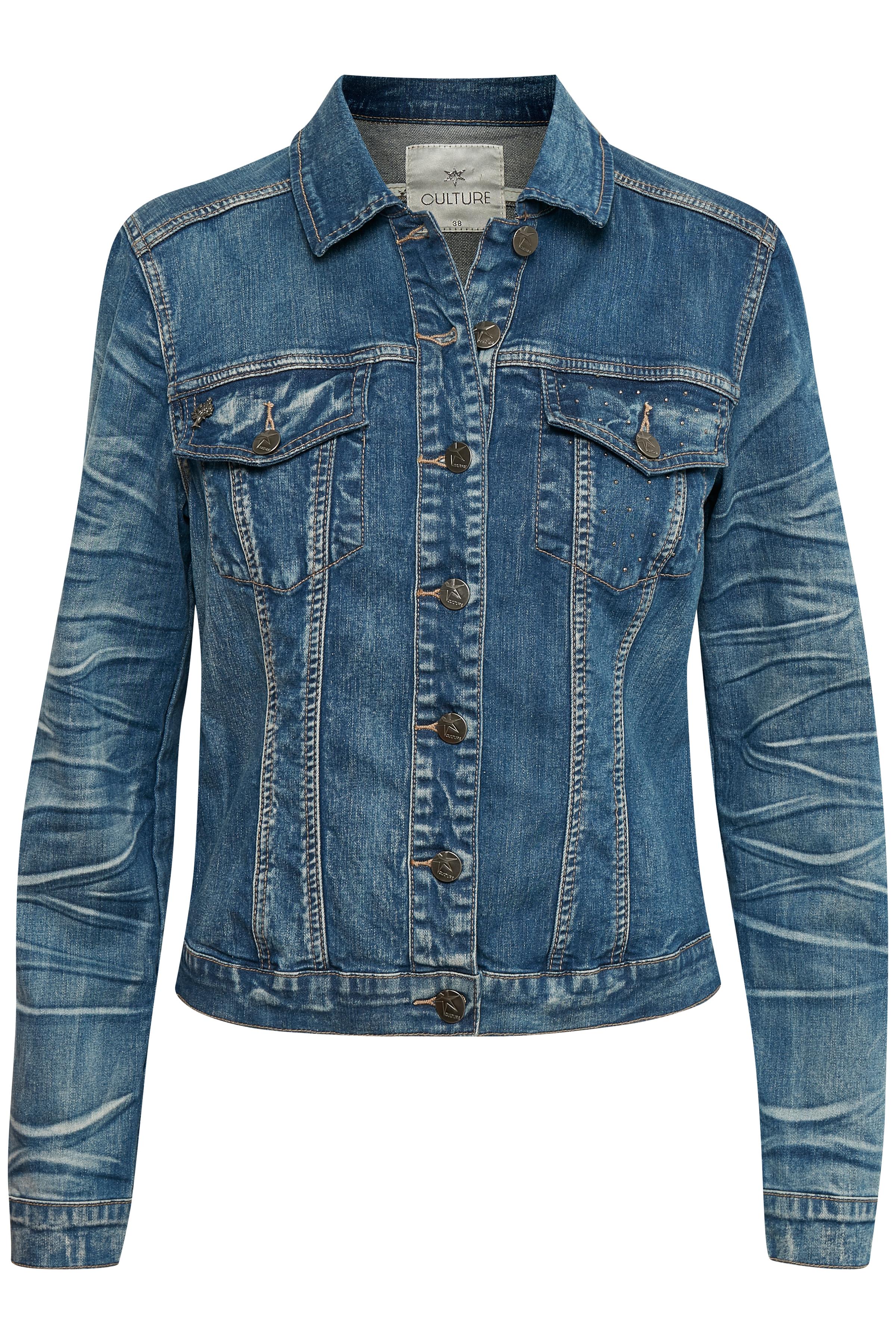 Culture Dame Denim jakke - Denimblå