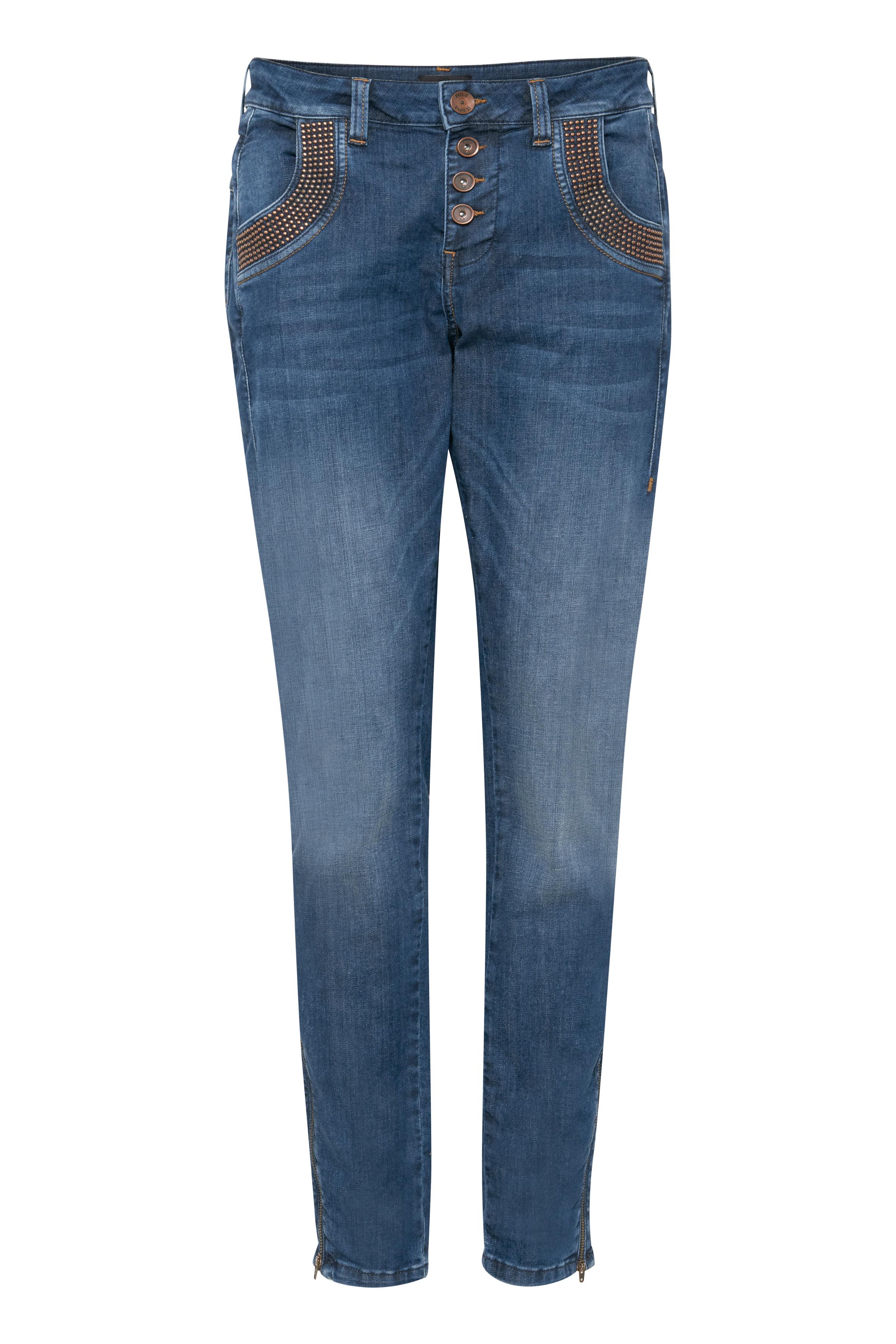 Image of Pulz Jeans Dame Cowboybukser - Denimblå