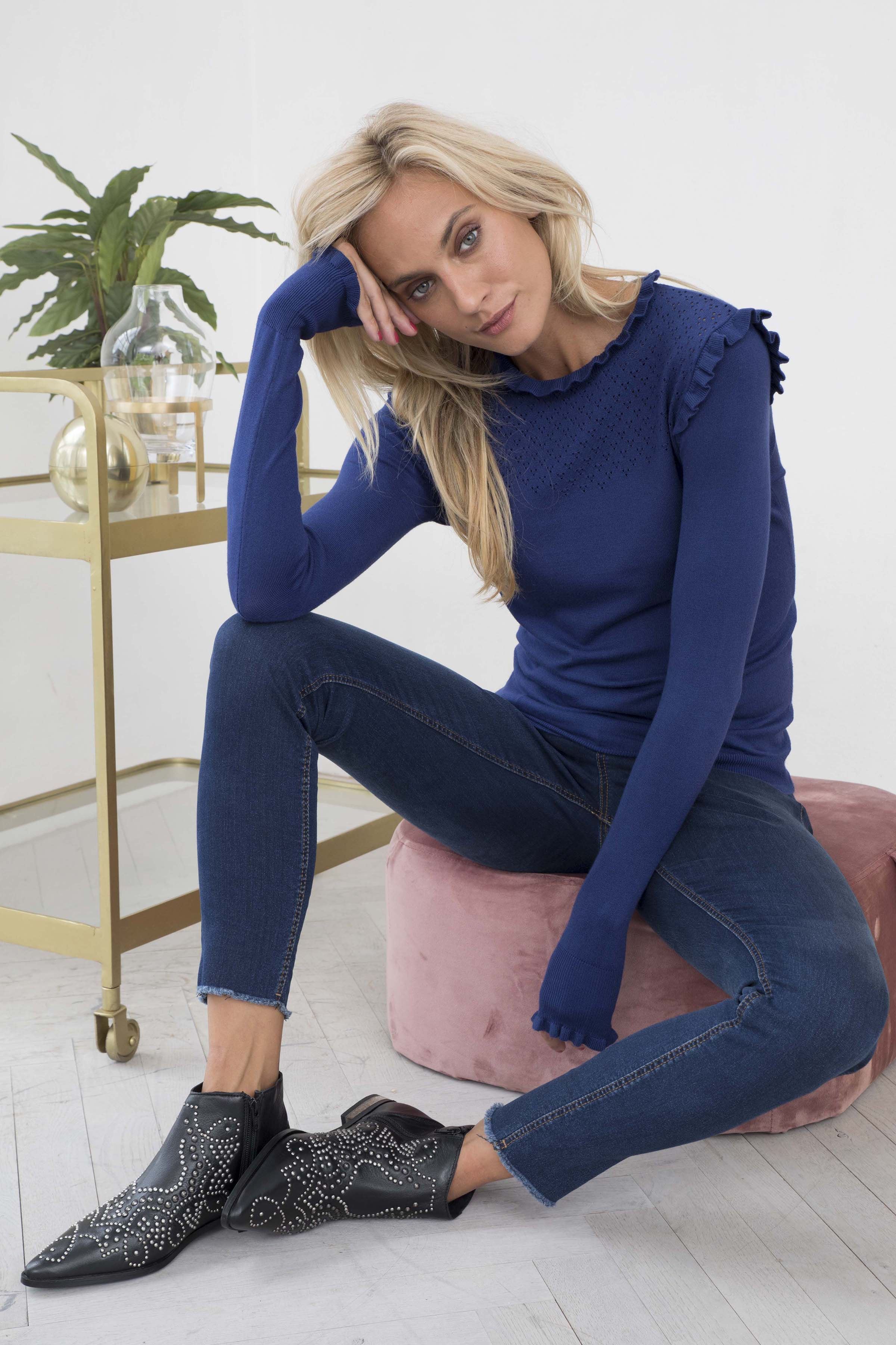 Denimblå Jeans från b.young – Köp Denimblå Jeans från stl. 25-36 här