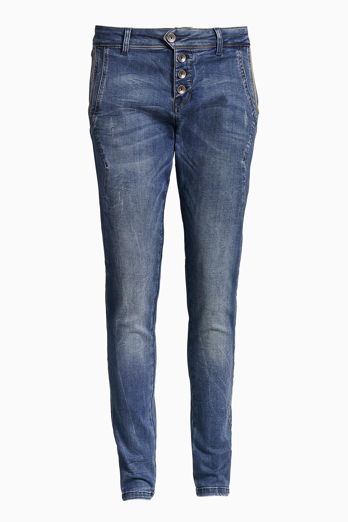 Image of Cream Dame Jeans - Denimblå