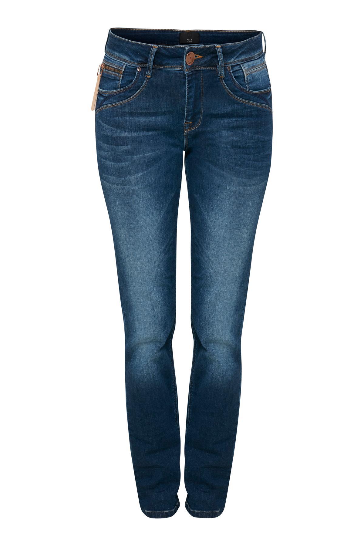Image of Pulz Jeans Dame Jeans - Denimblå