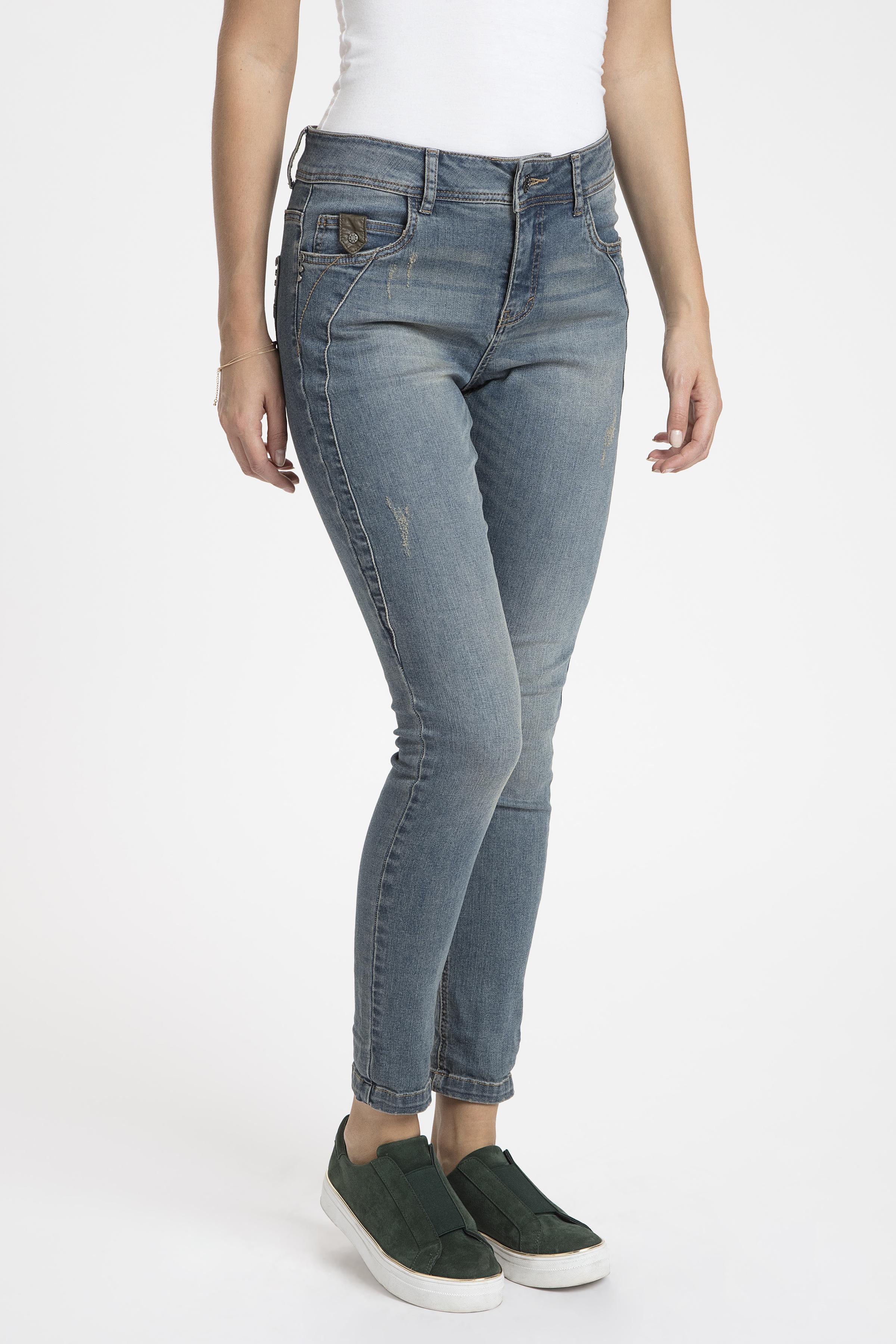 Denimblå Jeans från Bon'A Parte – Köp Denimblå Jeans från stl. 36-48 här