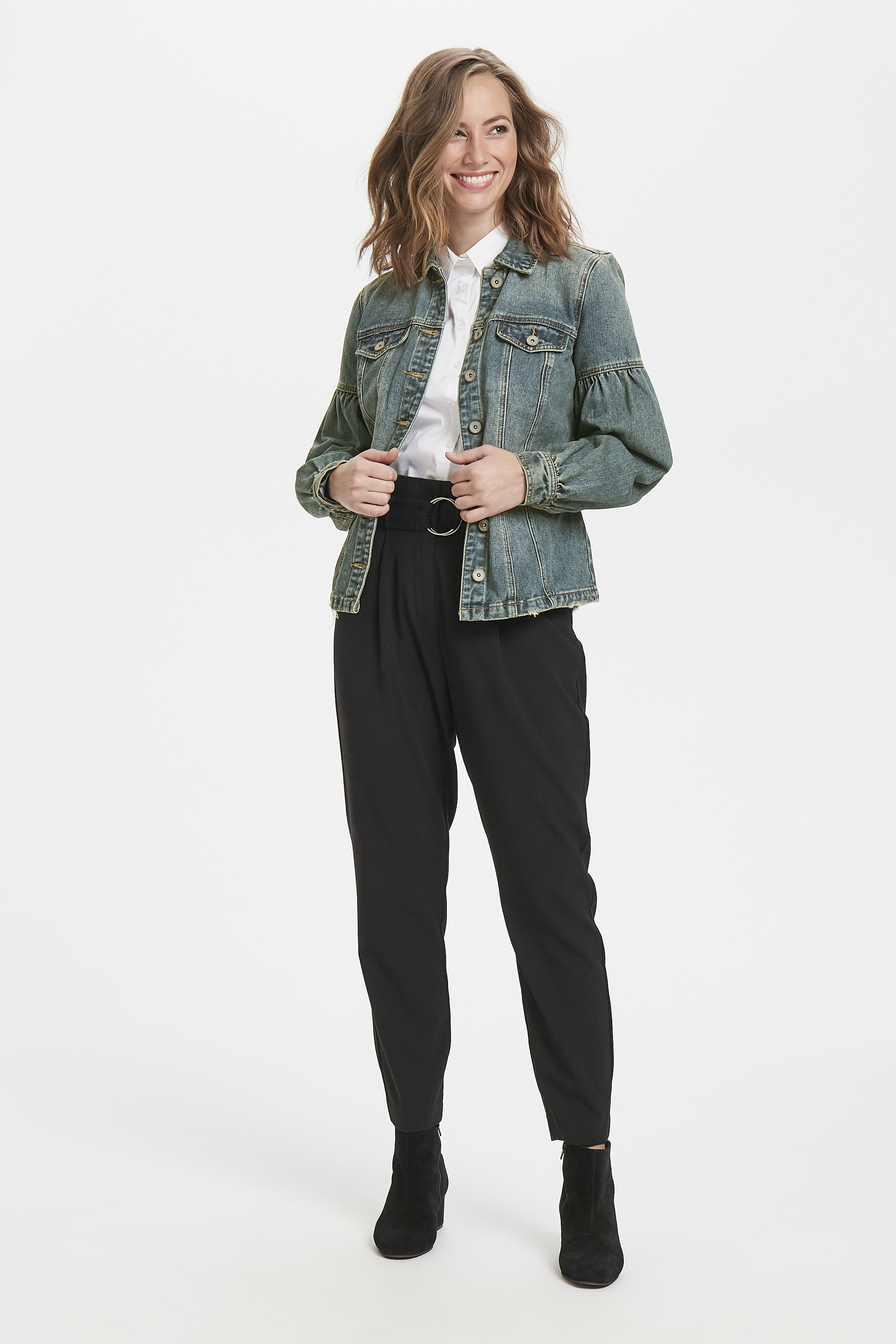 Denimblå Jeansjacka från Cream – Köp Denimblå Jeansjacka från stl. 34-46 här