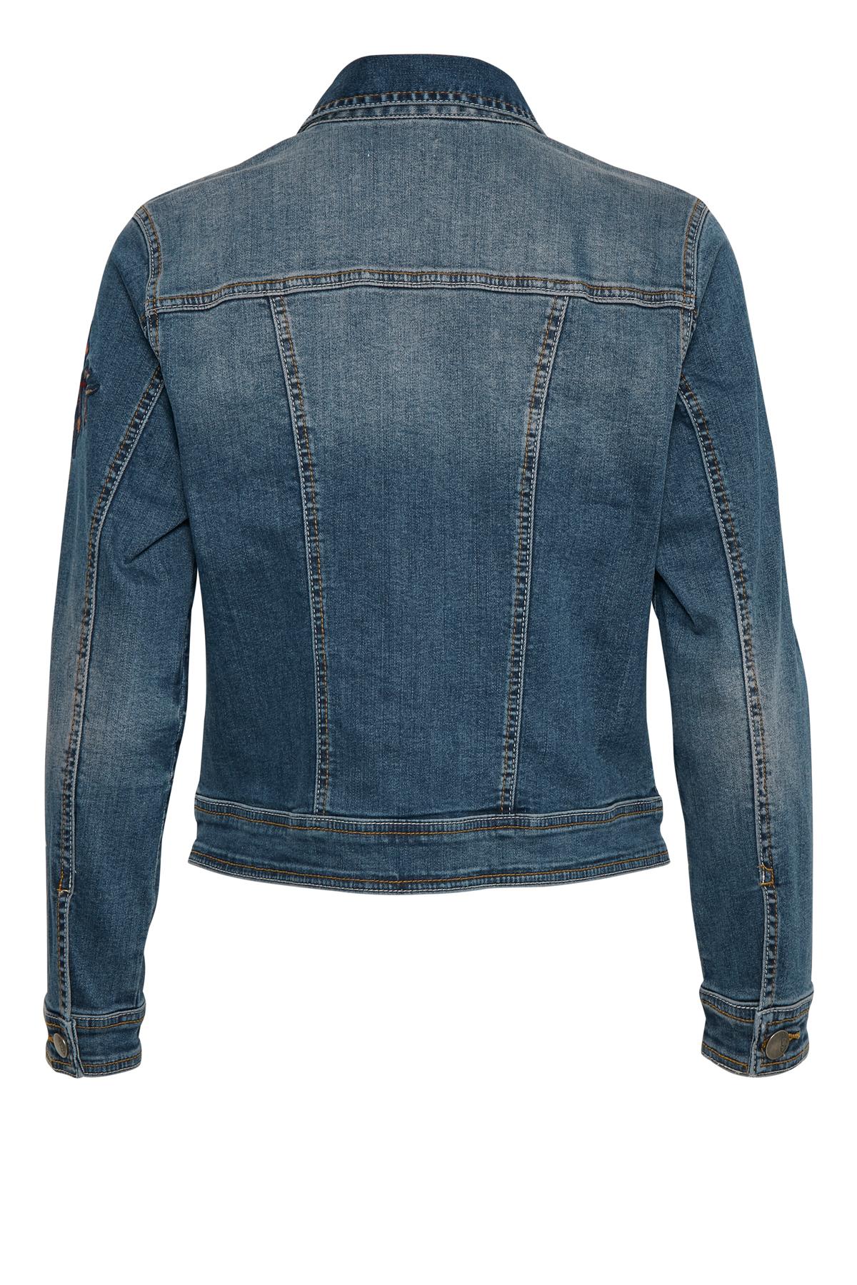 Denimblå Jeansjacka från Bon'A Parte – Köp Denimblå Jeansjacka från stl. S-2XL här