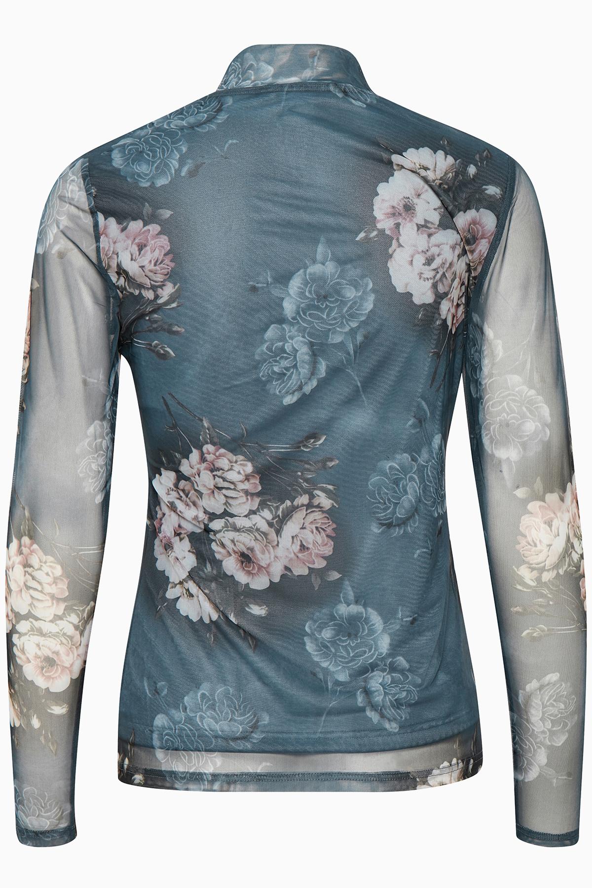 Denimblå Langærmet bluse  fra Kaffe – Køb Denimblå Langærmet bluse  fra str. XS-XXL her