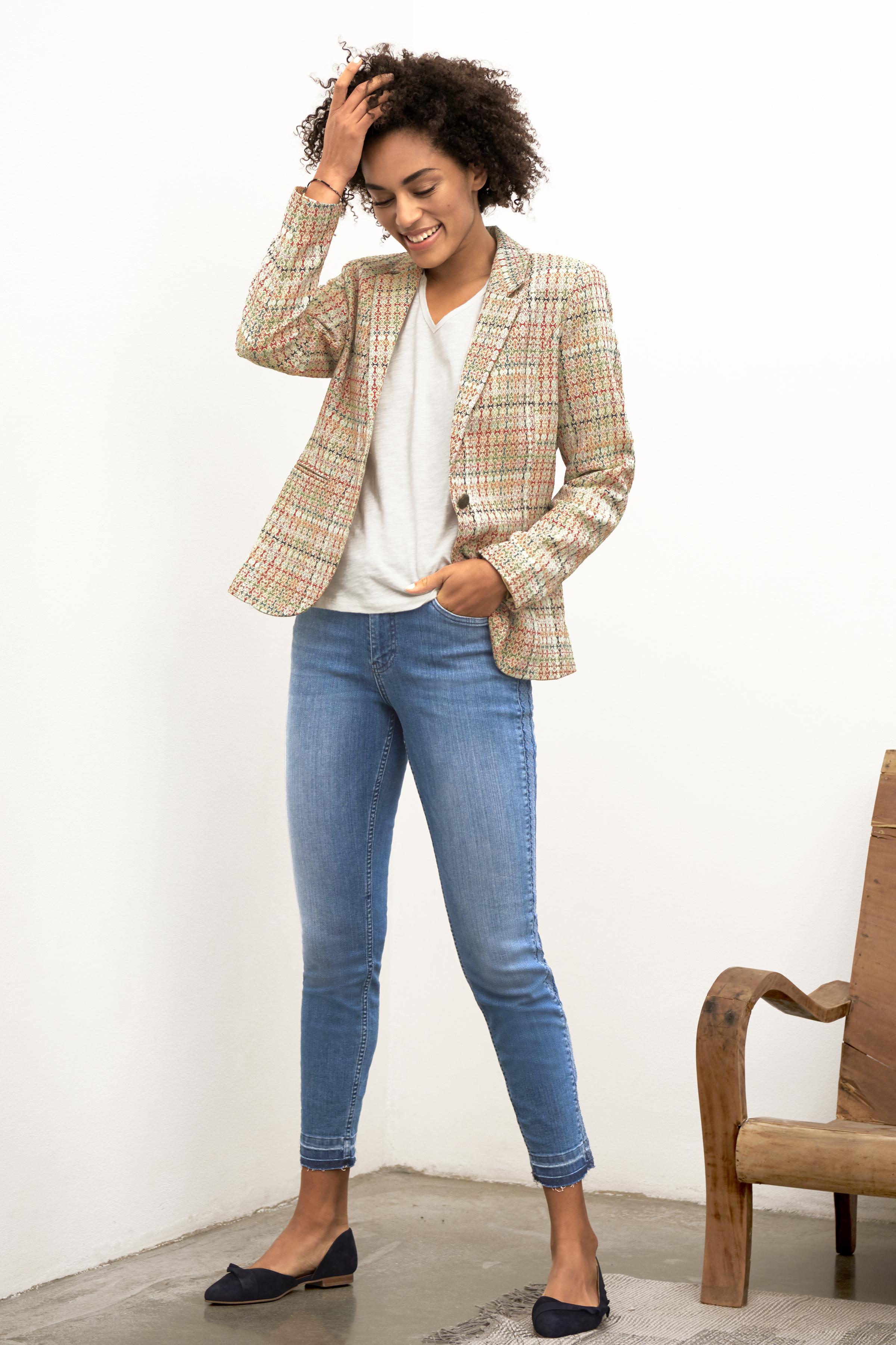 Denimblau Denim-Knöchelhose von Pulz Jeans – Shoppen Sie Denimblau Denim-Knöchelhose ab Gr. 25-35 hier