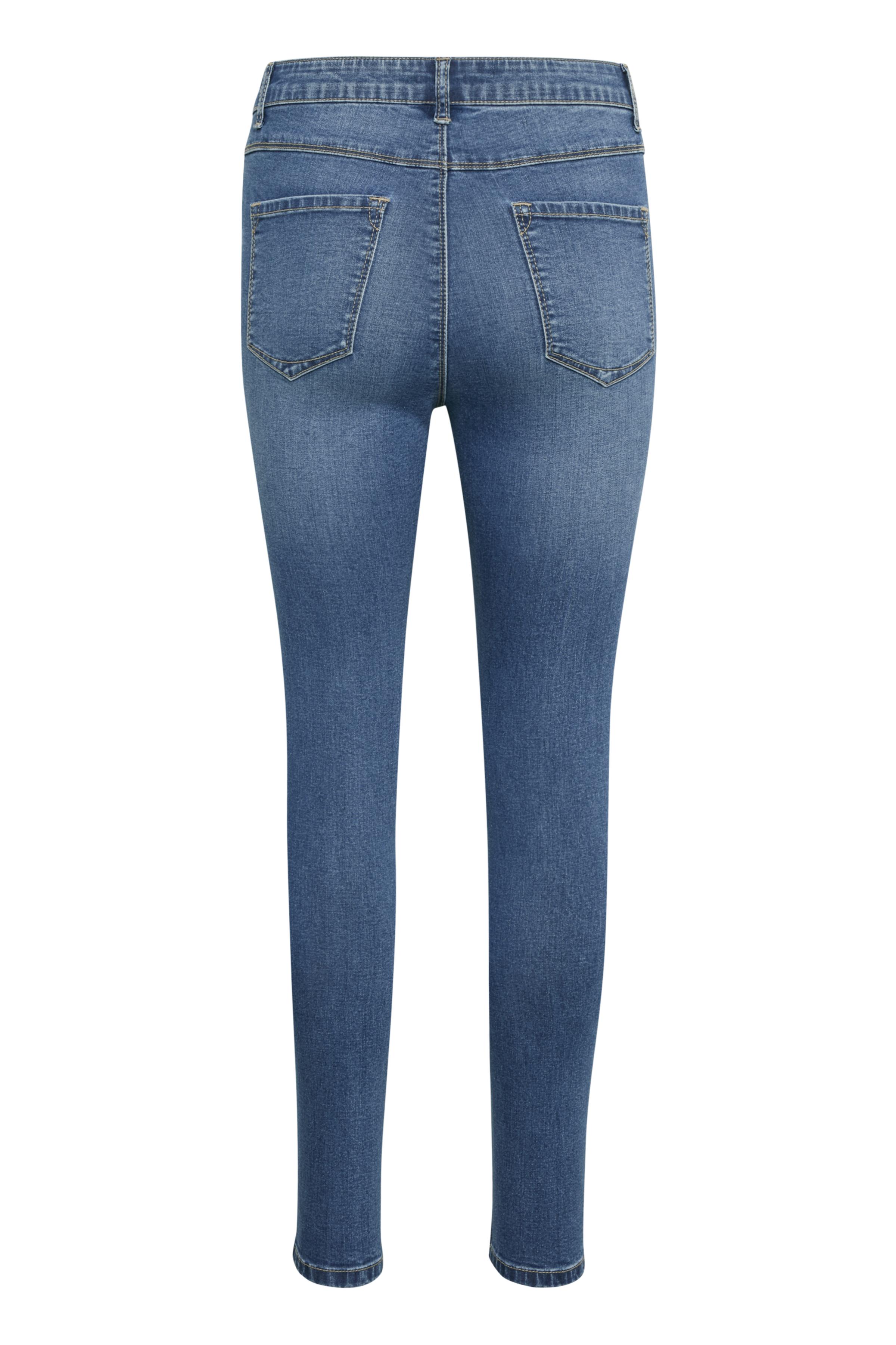 Denimblau Denim-Leggings von Bon'A Parte – Shoppen Sie Denimblau Denim-Leggings ab Gr. 36-48 hier