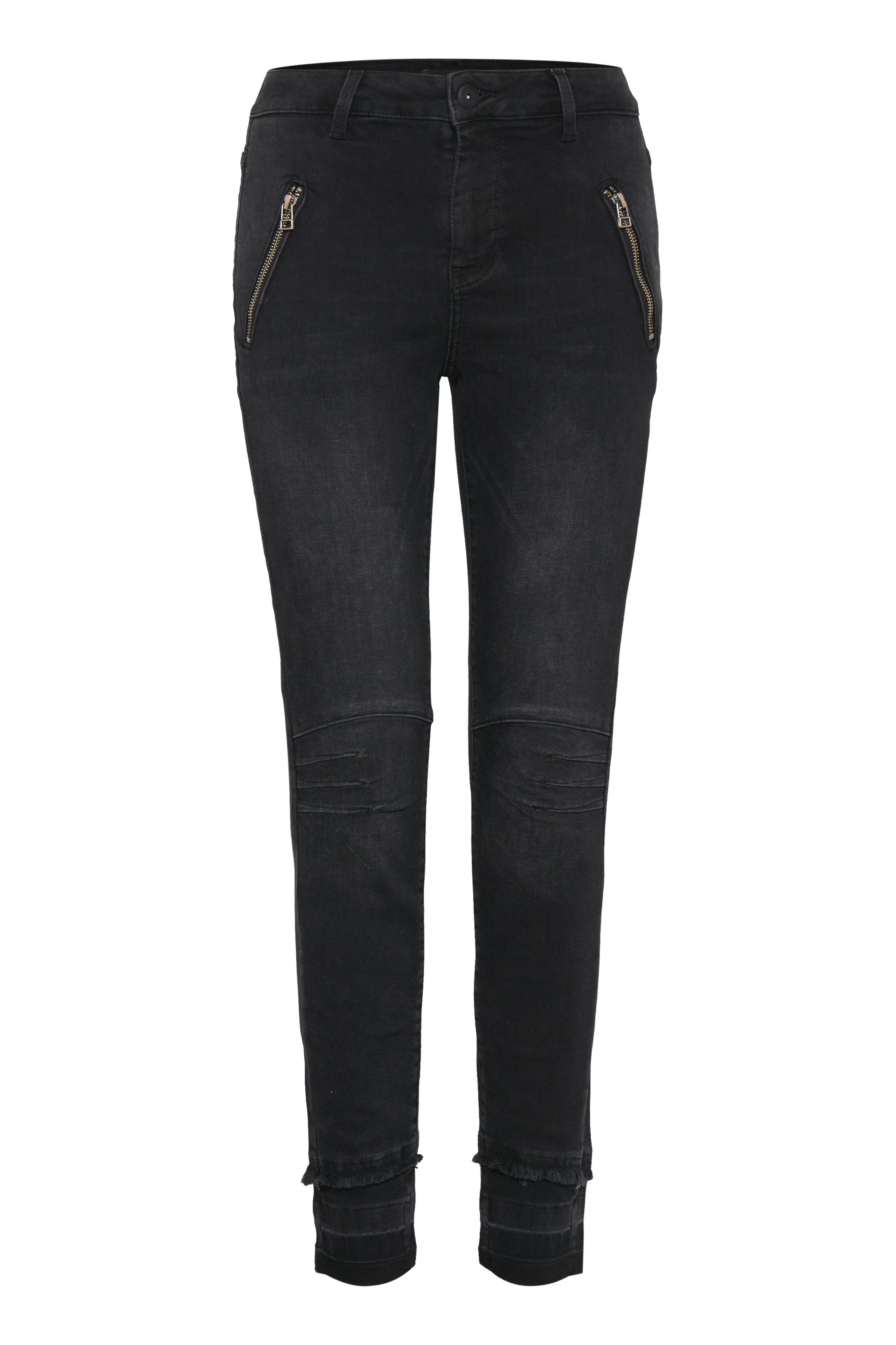 Image of Pulz Jeans Dame Højtaljede ankelbukser - Denimgrå