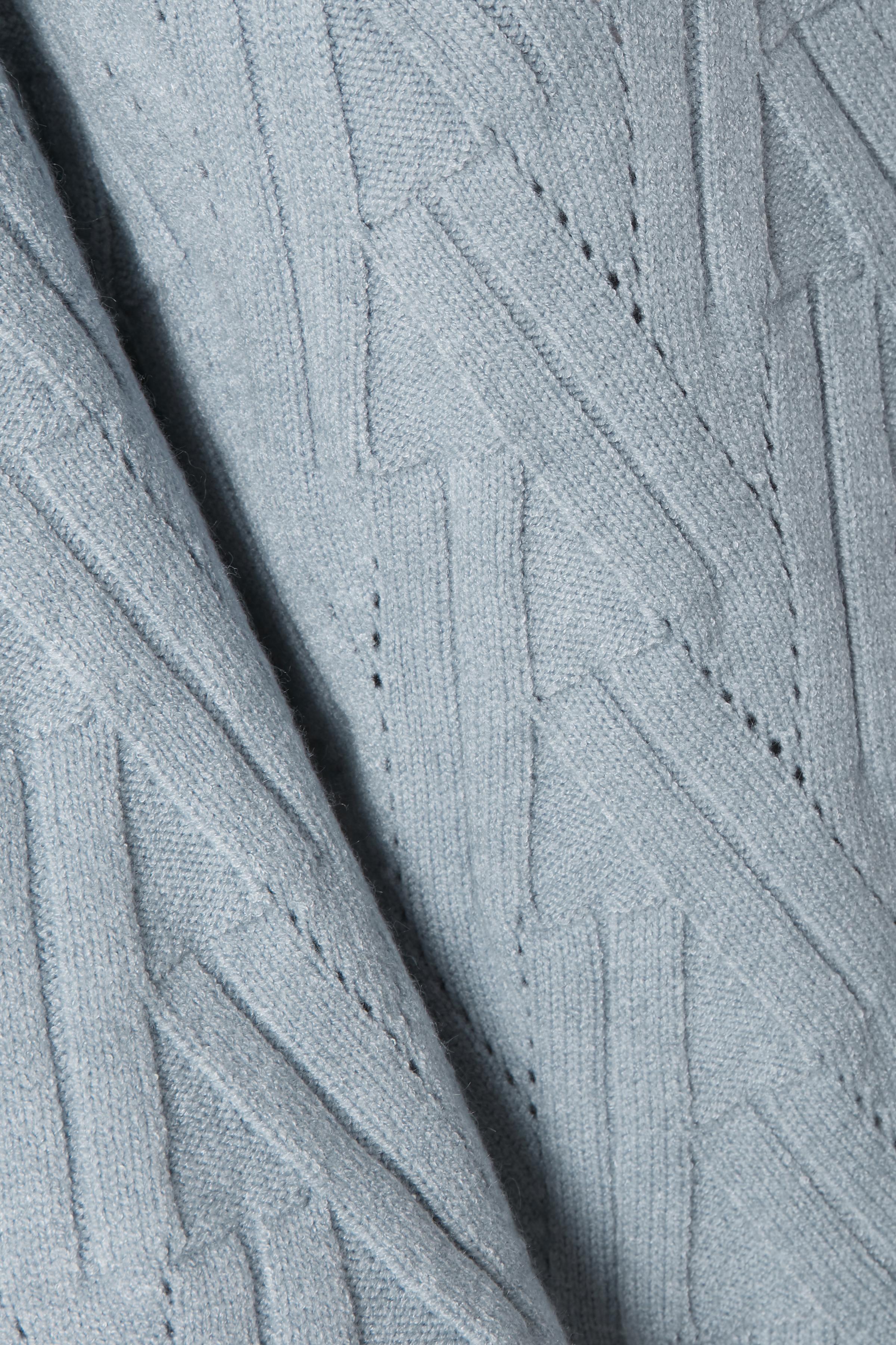 Dimblå Stickad pullover från Bon'A Parte – Köp Dimblå Stickad pullover från stl. S-2XL här
