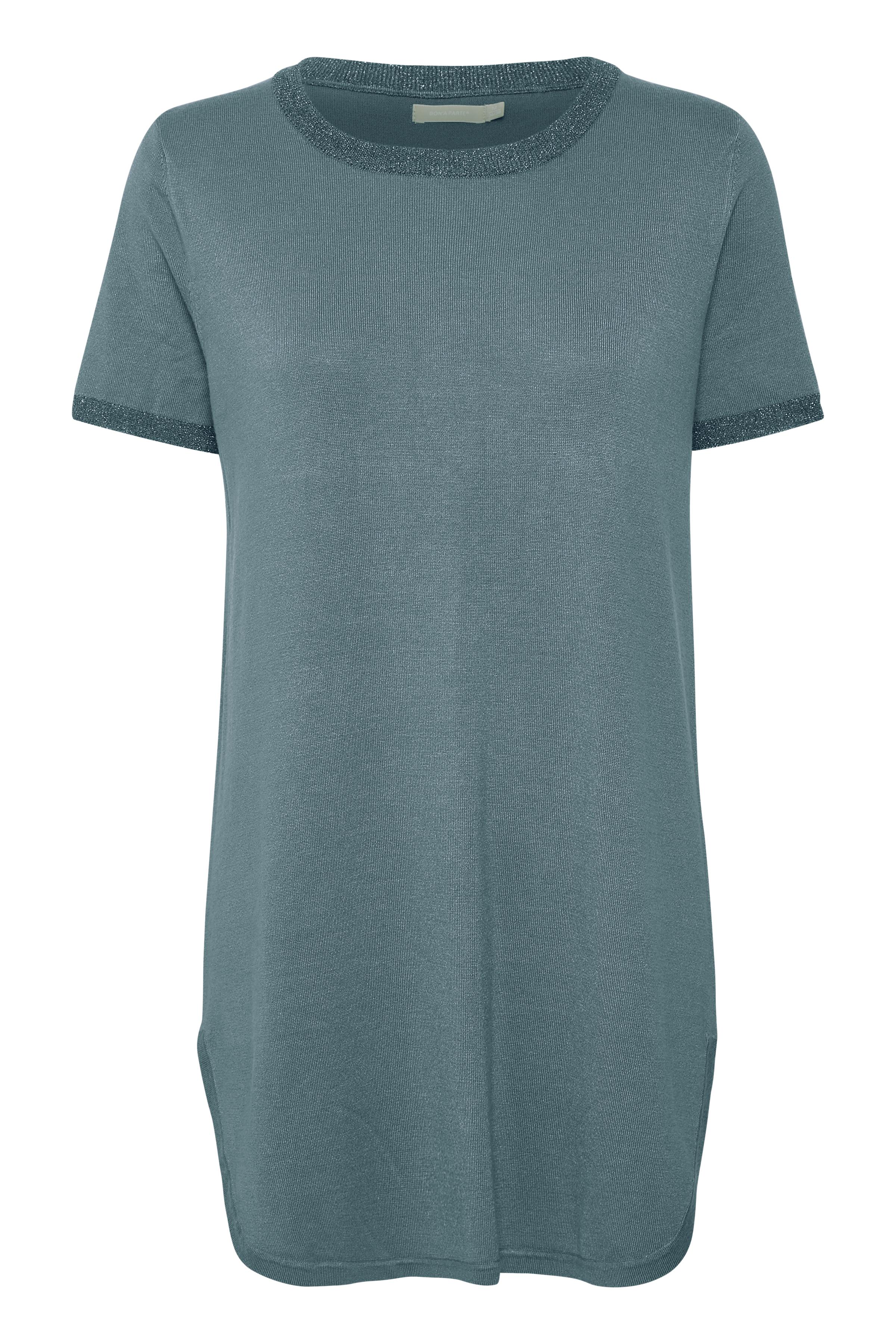 Dimblå Stickad tunika från Bon'A Parte – Köp Dimblå Stickad tunika från stl. S-2XL här