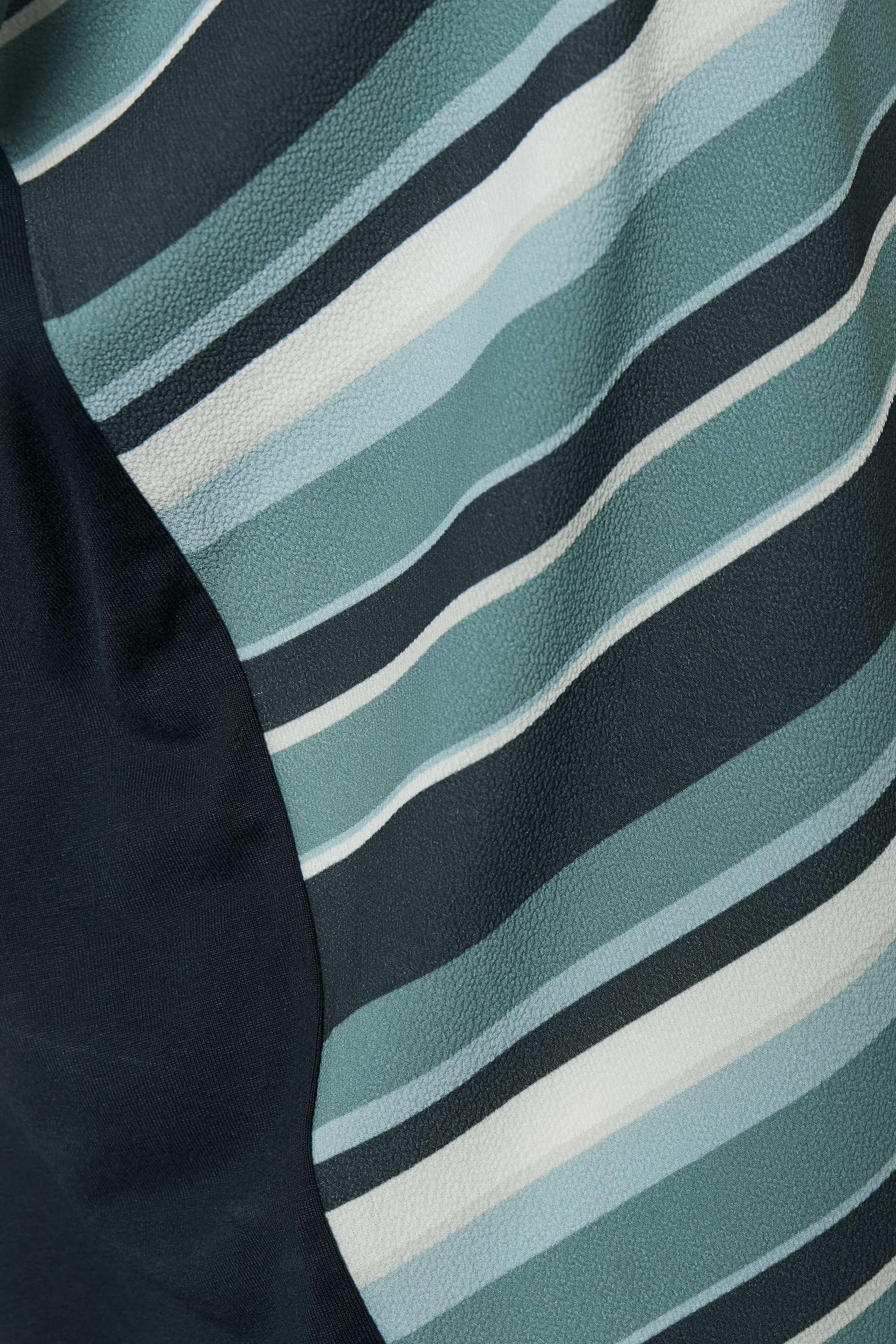 Dimgrön/blå Kortärmad blus  från Bon'A Parte – Köp Dimgrön/blå Kortärmad blus  från stl. S-2XL här