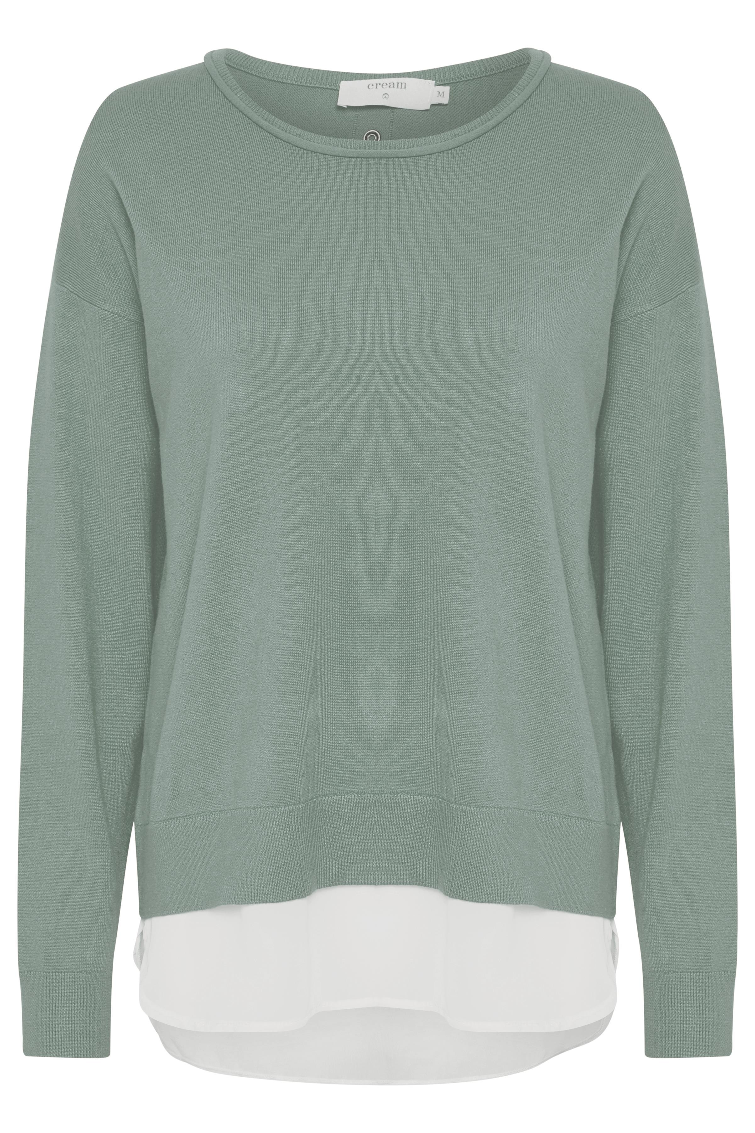 Dimgrön Stickad pullover från Cream – Köp Dimgrön Stickad pullover från stl. XS-XXL här