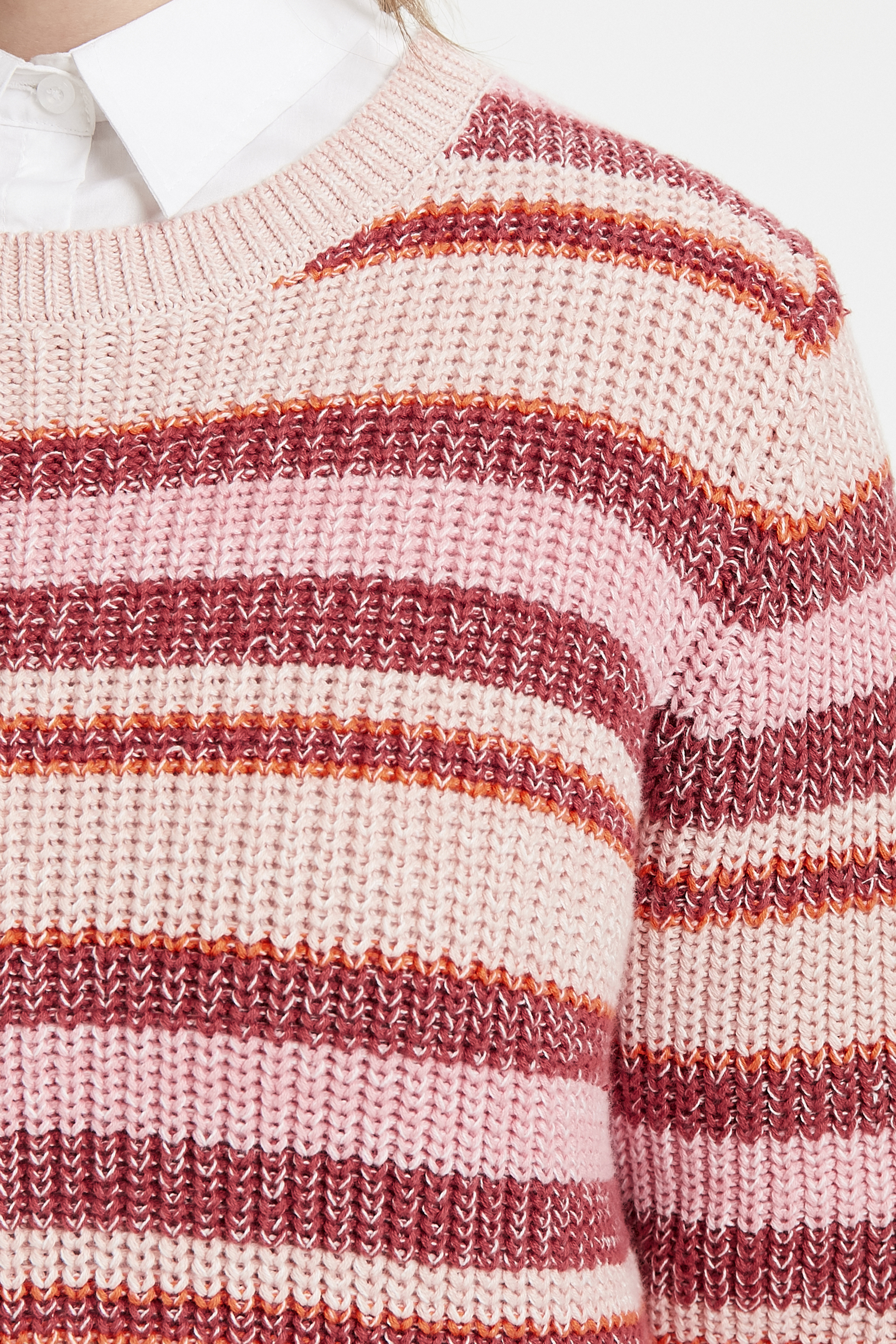 Dimrosa/röd Stickad pullover från Cream – Köp Dimrosa/röd Stickad pullover från stl. XS-XXL här
