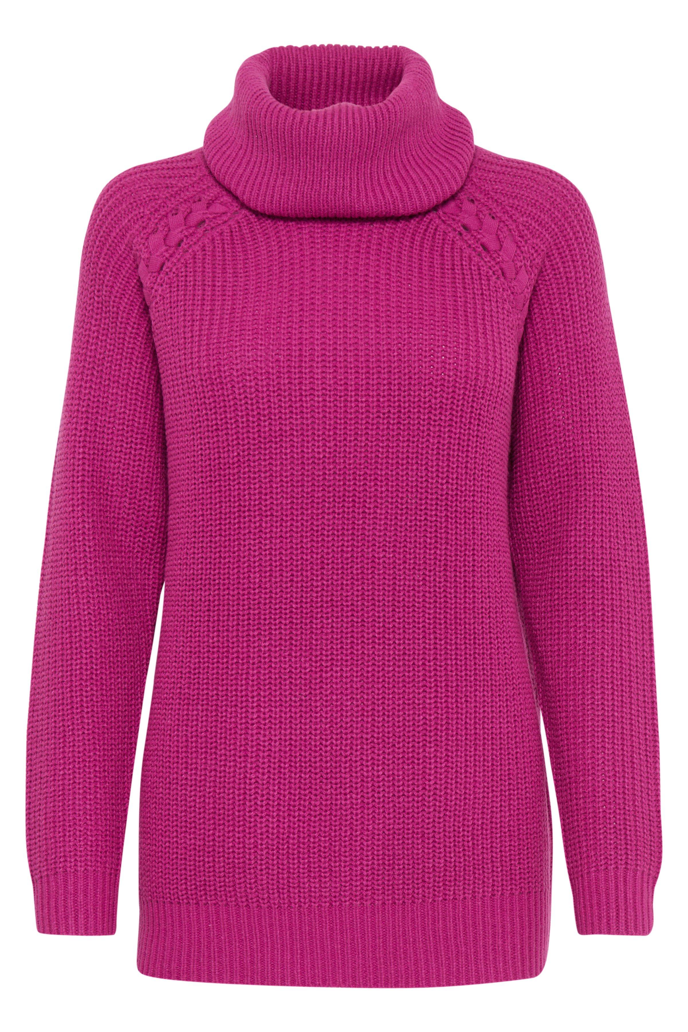 b.young Dame Gebreide pullover - Donker cerise