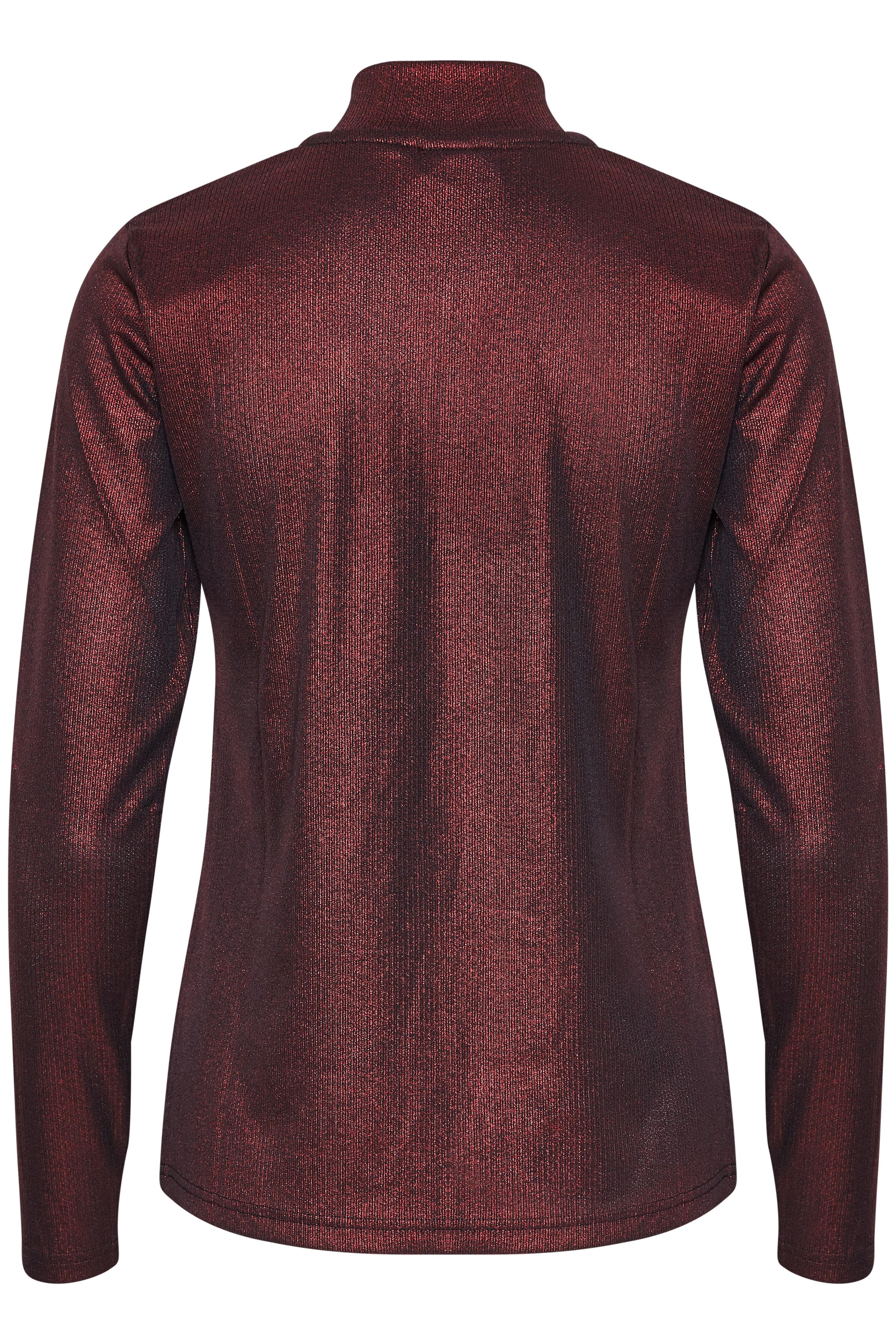 Donkerrood T-shirt lange mouw van Kaffe – Door Donkerrood T-shirt lange mouw van maat. XS-XXL hier