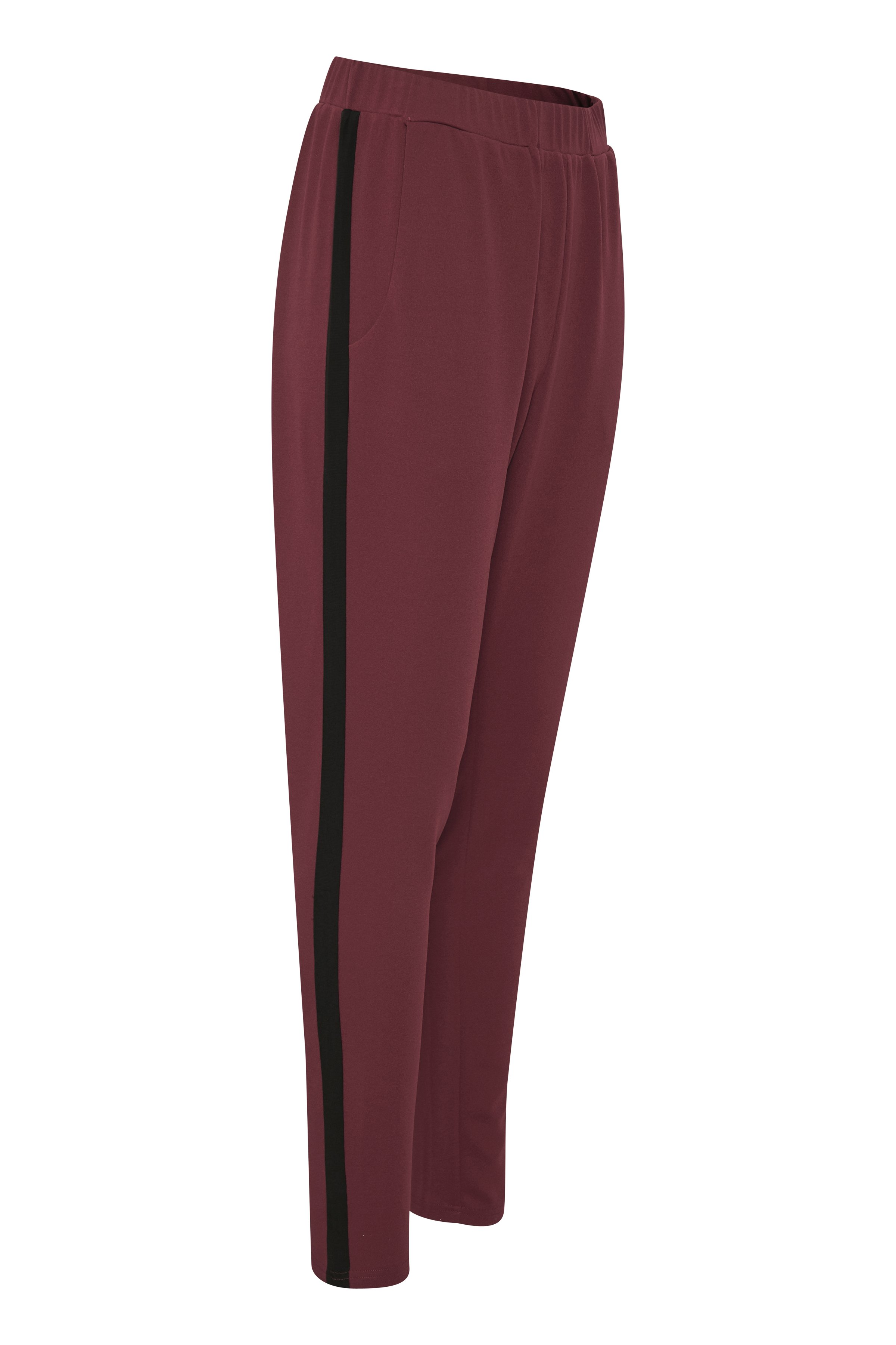 Donkerrood/zwart Casual broek van Kaffe – Door Donkerrood/zwart Casual broek van maat. XS-XXL hier