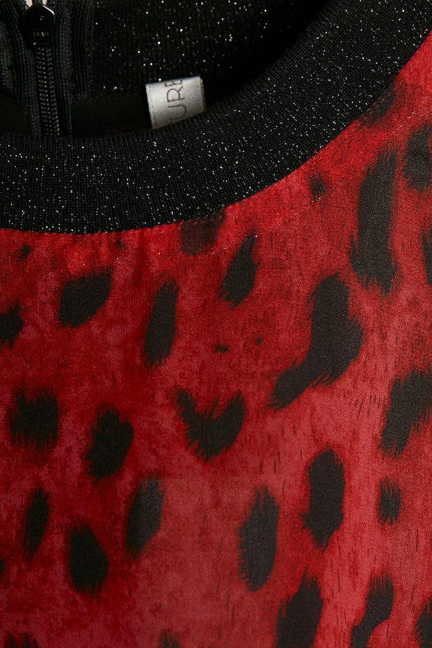 e305c5548adebf Donkerrood zwart Jurk van Culture – Door Donkerrood zwart Jurk van maat. XS-XXL  hier