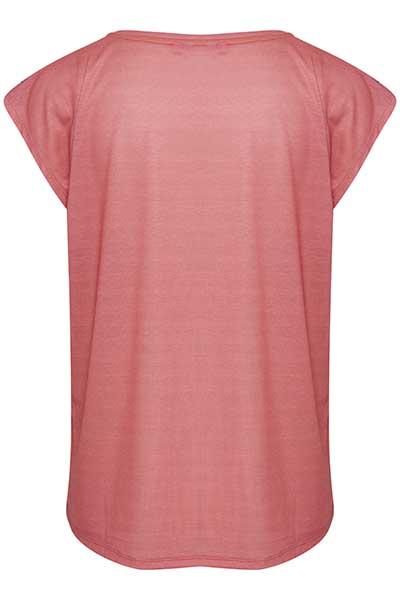 Donkerroze T-shirt korte mouw van Bon'A Parte – Door Donkerroze T-shirt korte mouw van maat. S-2XL hier