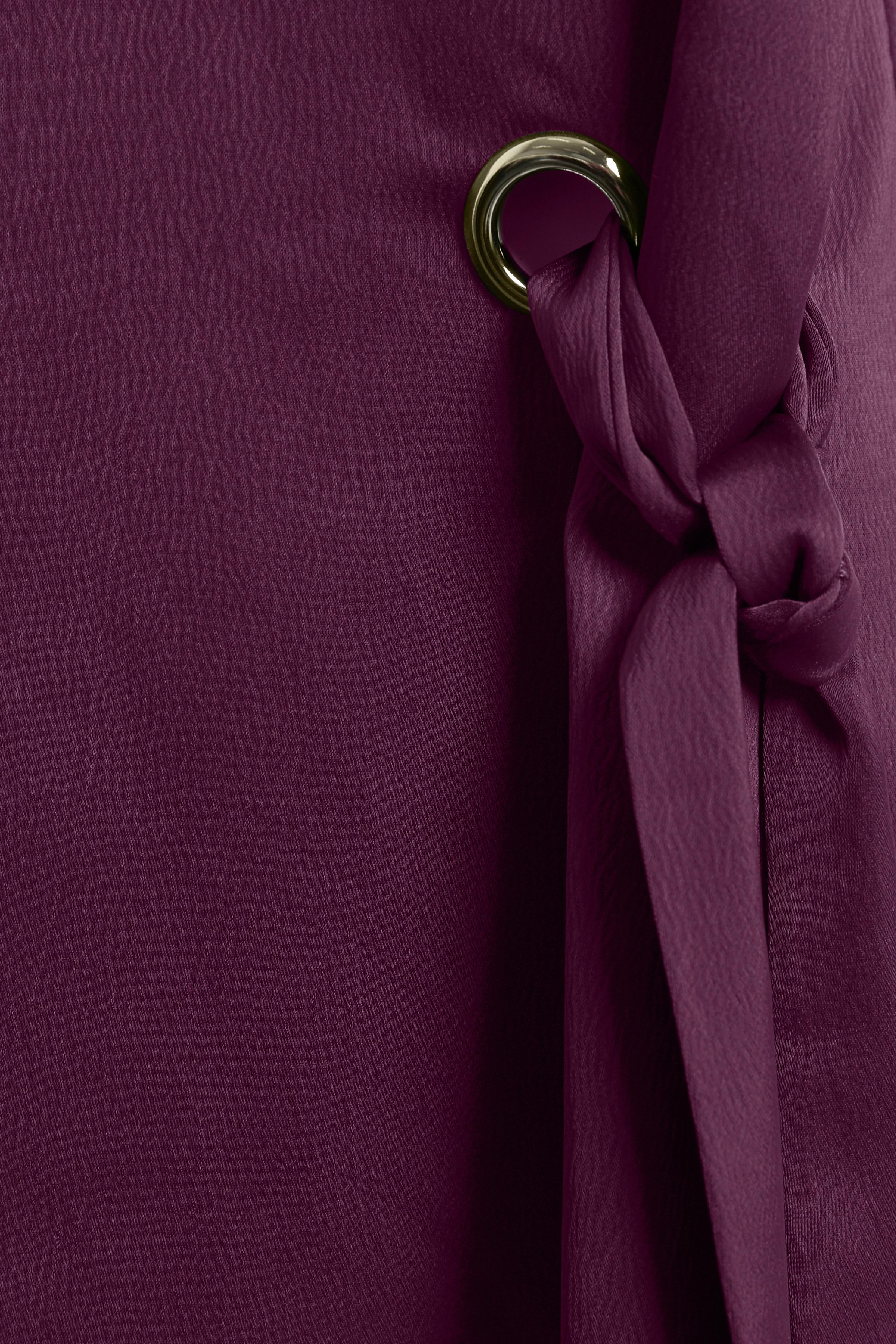Dunkel aubergine Kurzarm-Bluse von Bon'A Parte – Shoppen Sie Dunkel aubergine Kurzarm-Bluse ab Gr. S-2XL hier