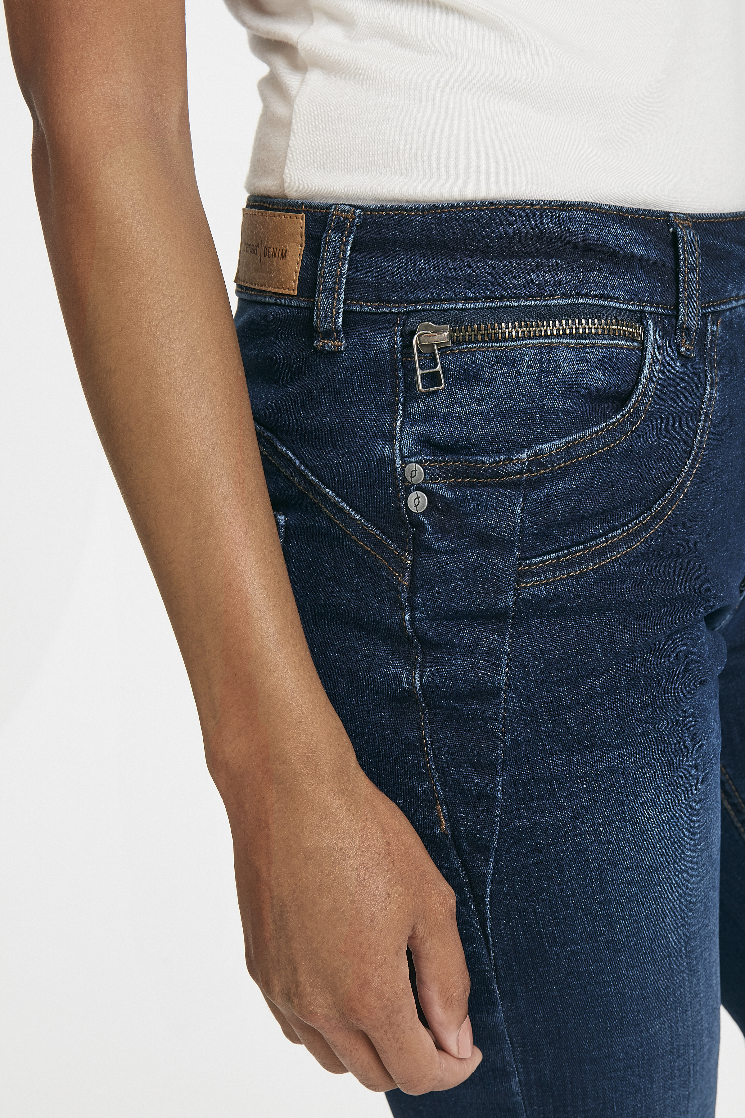 Dunkel denimblau Jeans von Fransa – Shoppen Sie Dunkel denimblau Jeans ab Gr. 34-46 hier