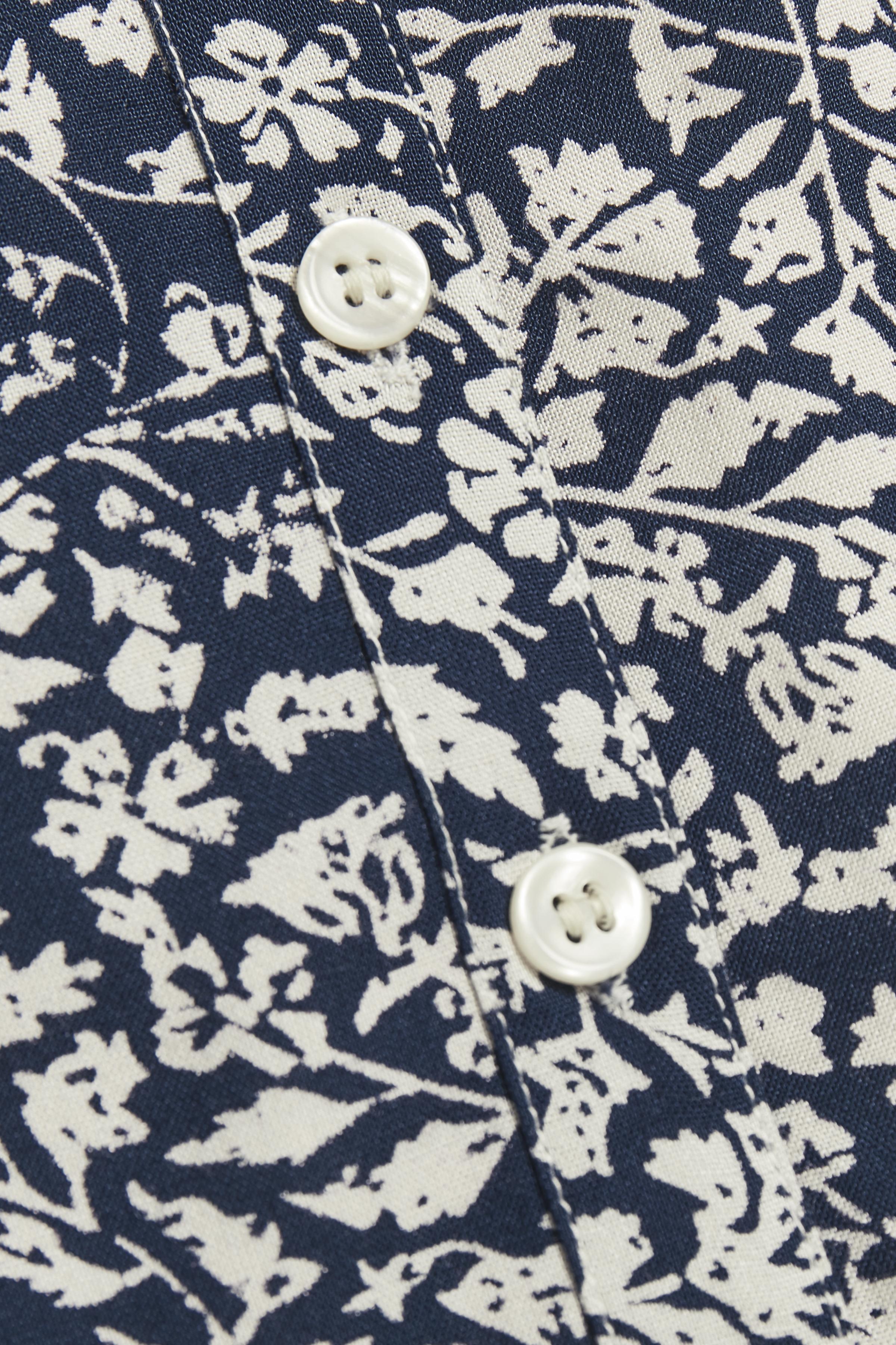 Dunkelblau/creme Kurzarm-Hemd von Bon'A Parte – Shoppen Sie Dunkelblau/creme Kurzarm-Hemd ab Gr. S-2XL hier