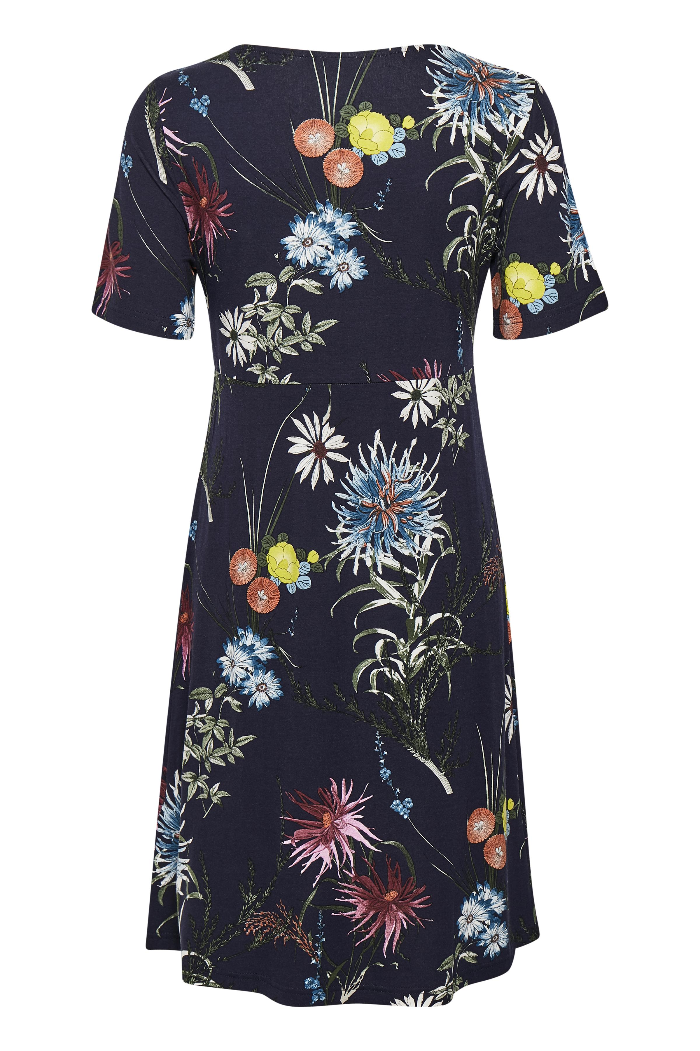 Dunkelblau/pink Kleid von Bon'A Parte – Shoppen Sie Dunkelblau/pink Kleid ab Gr. S-2XL hier
