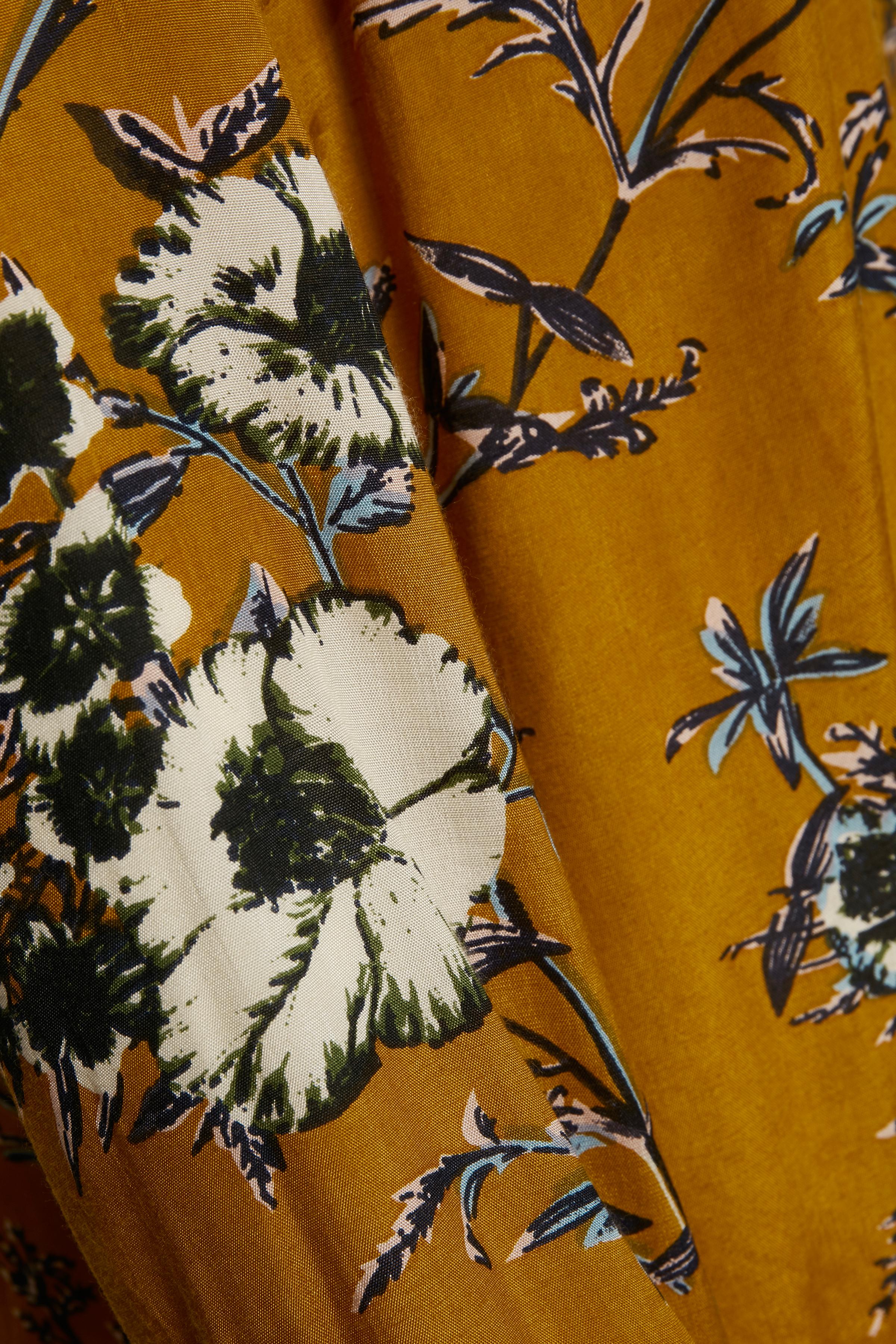 Dunkelcurry/wollweiß Langarm-Bluse von Kaffe – Shoppen Sie Dunkelcurry/wollweiß Langarm-Bluse ab Gr. 34-46 hier