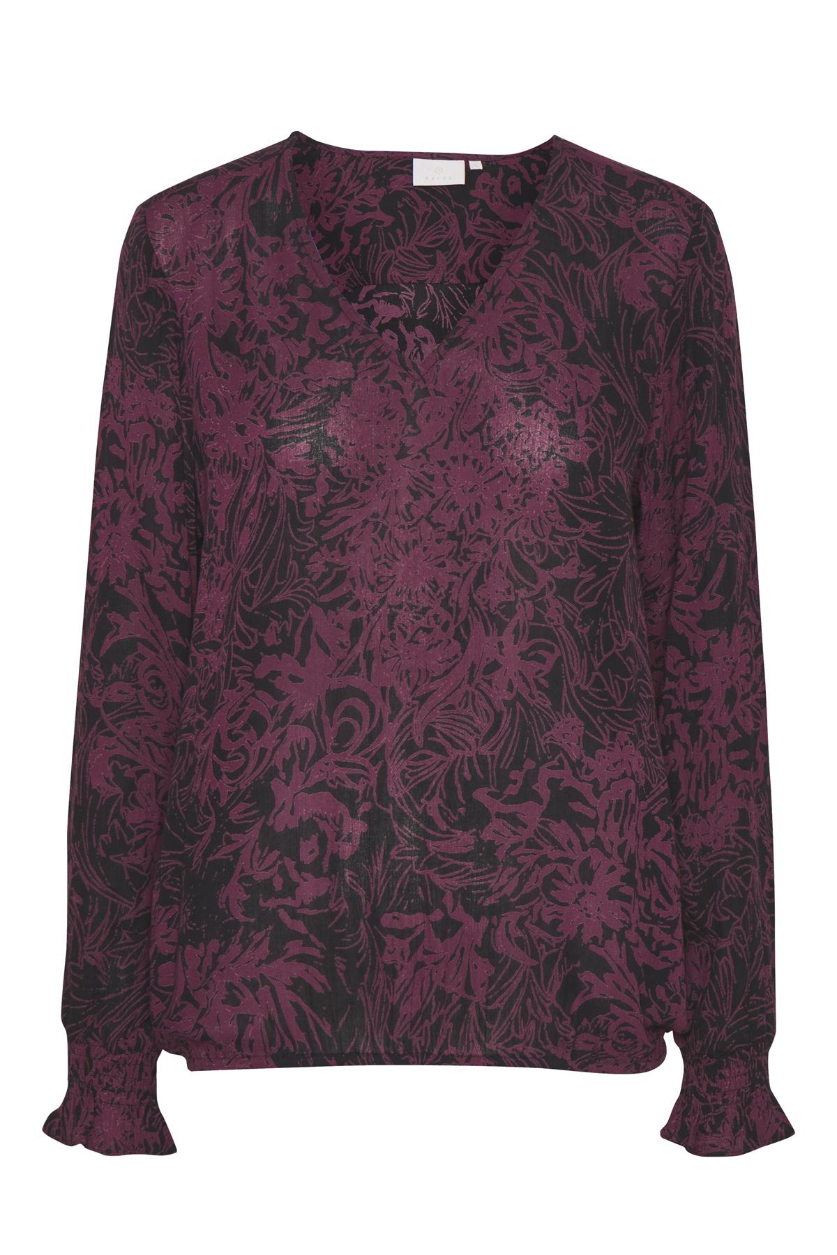 Dunkellila/schwarz Langarm-Bluse von Kaffe – Shoppen SieDunkellila/schwarz Langarm-Bluse ab Gr. 34-46 hier