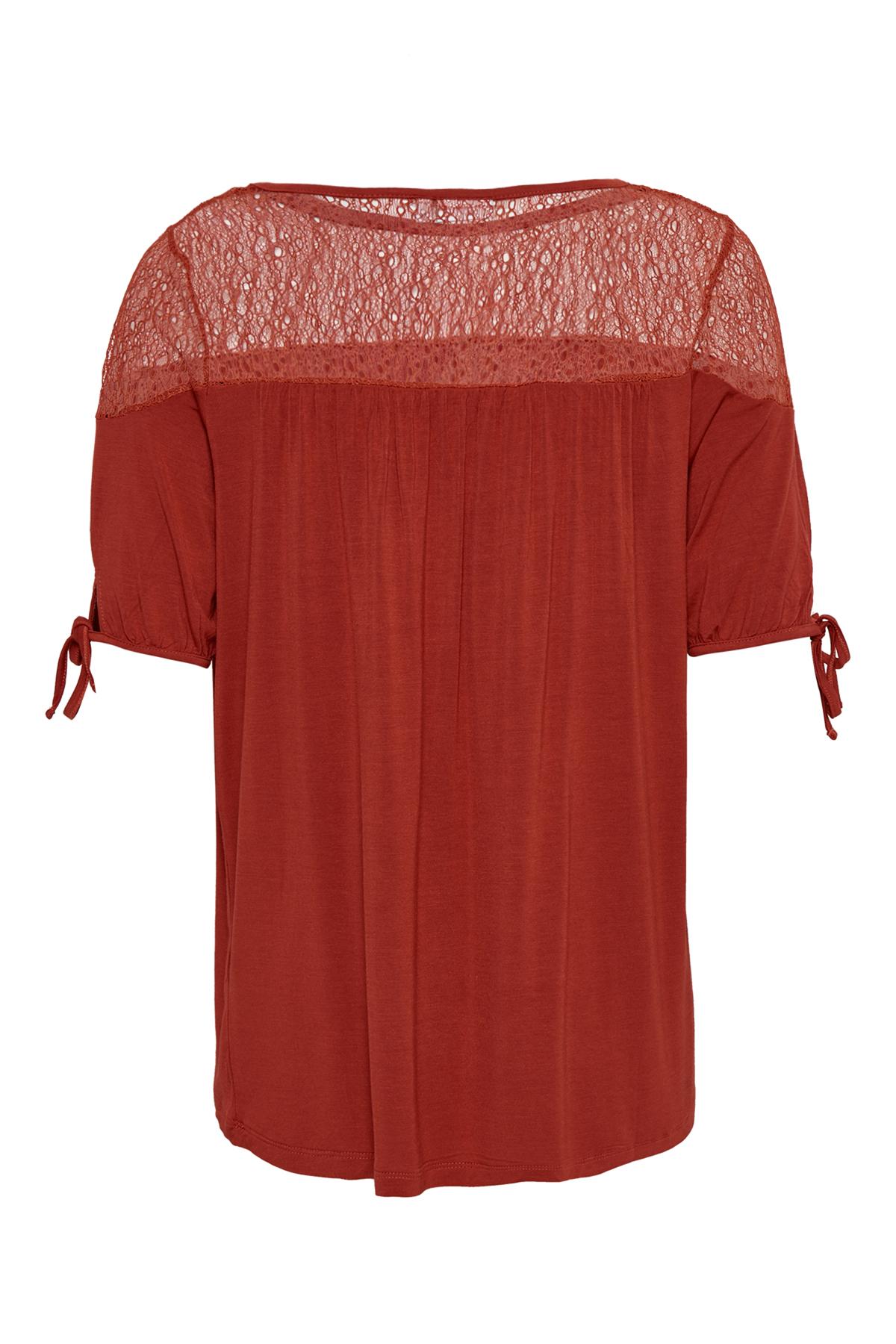 Dunkelorange Kurzarm-Bluse von Fransa – Shoppen Sie Dunkelorange Kurzarm-Bluse ab Gr. XS-XXL hier
