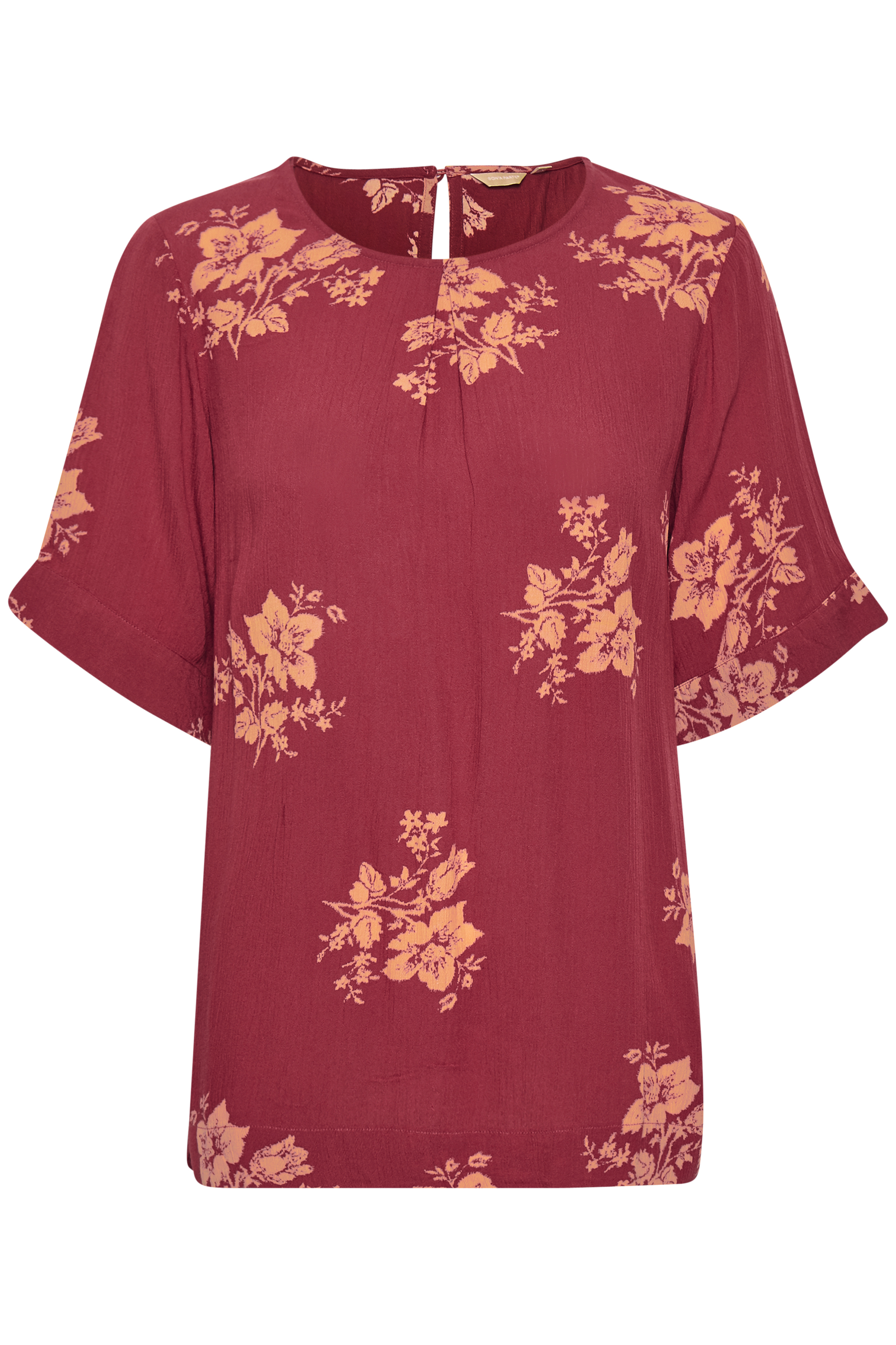 Dunkelrosa/orange Bluse  von Bon'A Parte – Shoppen SieDunkelrosa/orange Bluse  ab Gr. S-2XL hier