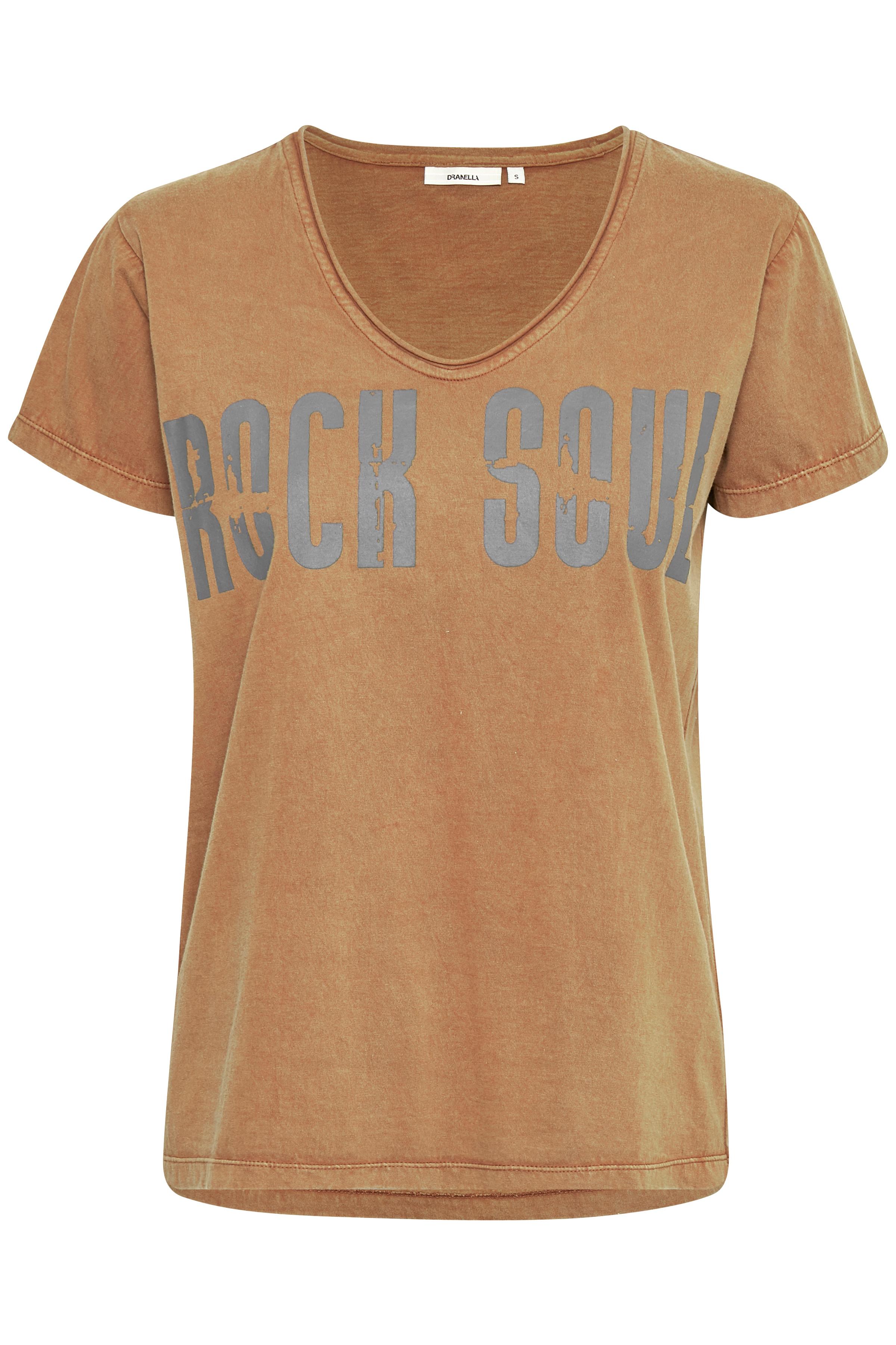 Dunkelsand Kurzarm T-Shirt von Dranella – Shoppen Sie Dunkelsand Kurzarm T-Shirt ab Gr. XS-XXL hier